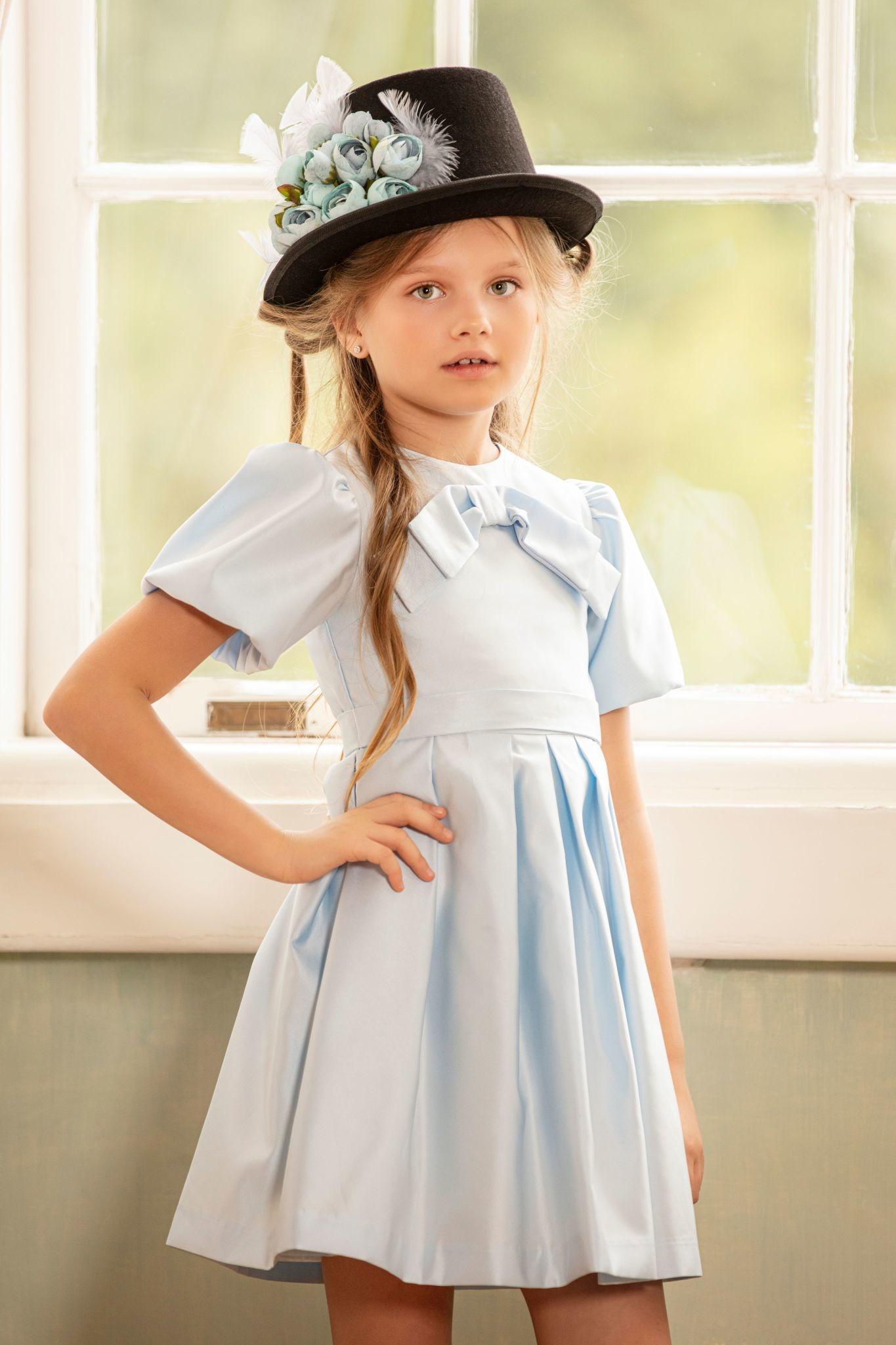 Patachou Patachou Girls Blue Party Dress