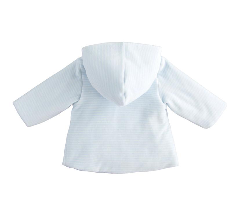 Ido Ido 1295 Blue/White Stripe Bear Velour Jacket