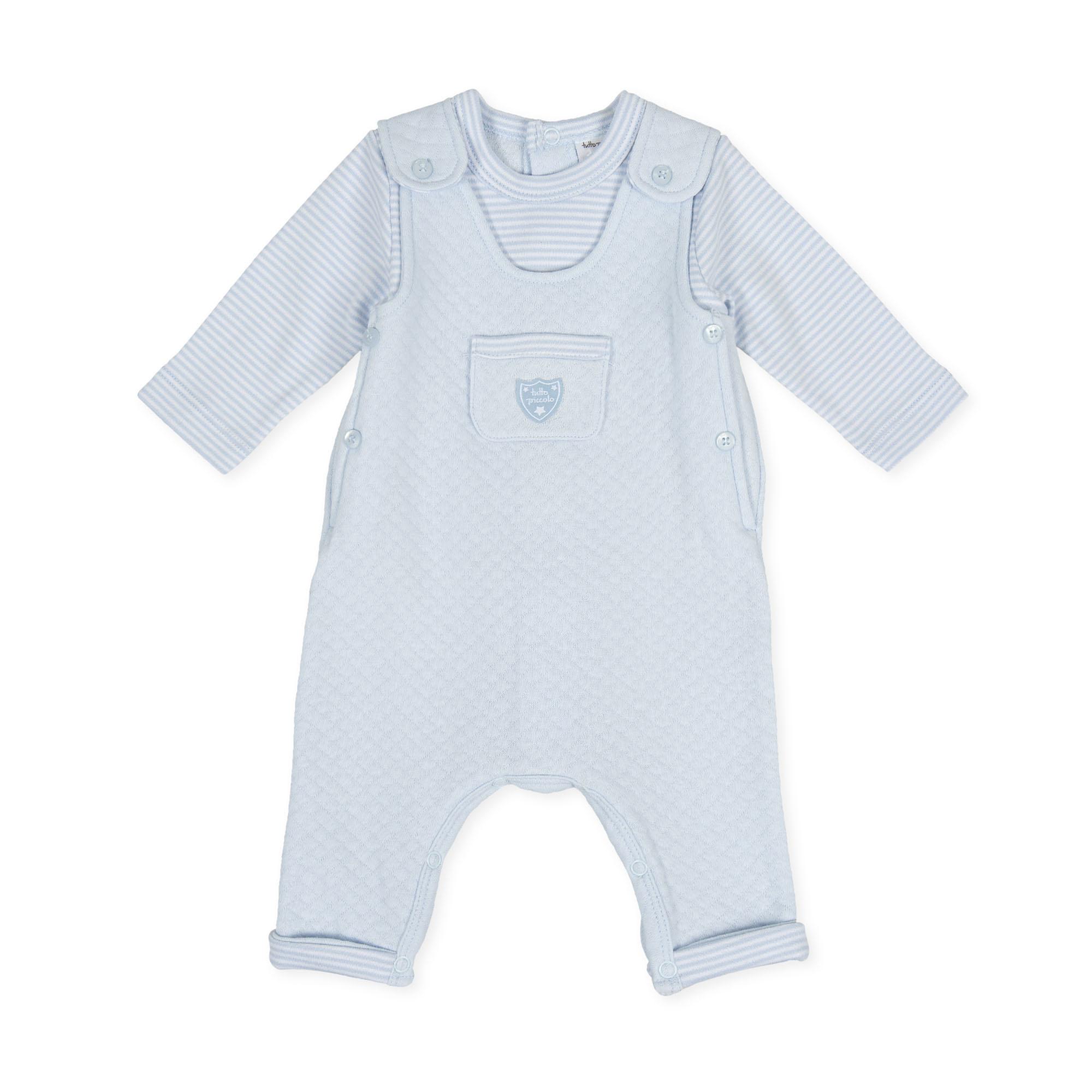 Tutto Piccolo Tutto Piccolo 9087 Blue  Babygrow with Front Pocket