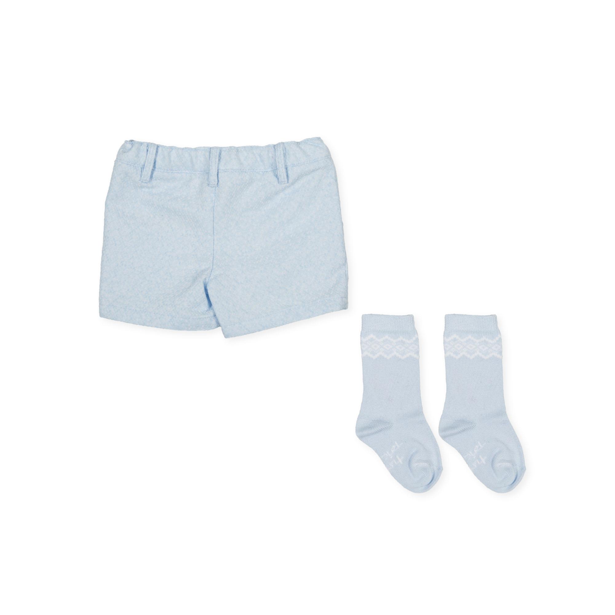 Tutto Piccolo Tutto Piccolo 9314 Pale Blue Shorts & Socks