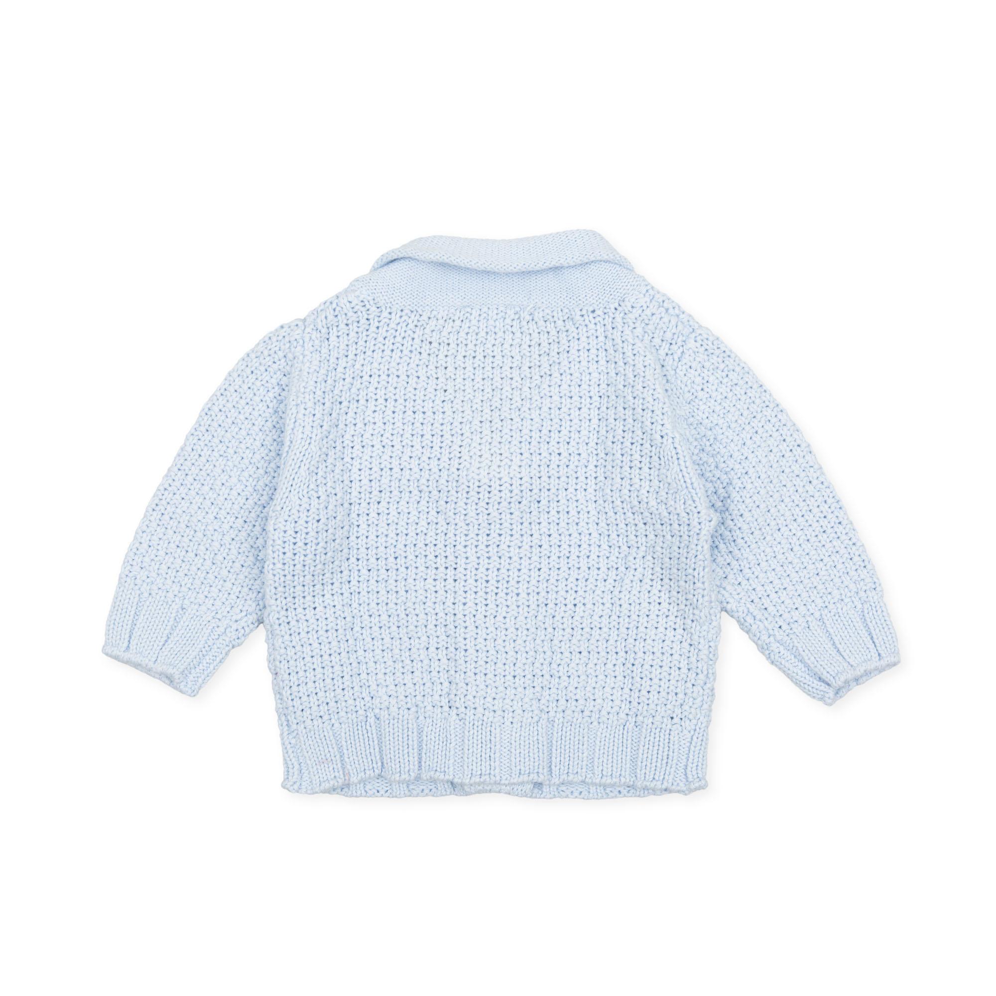 Tutto Piccolo Tutto Piccolo 9521 Pale Blue Knit Jacket