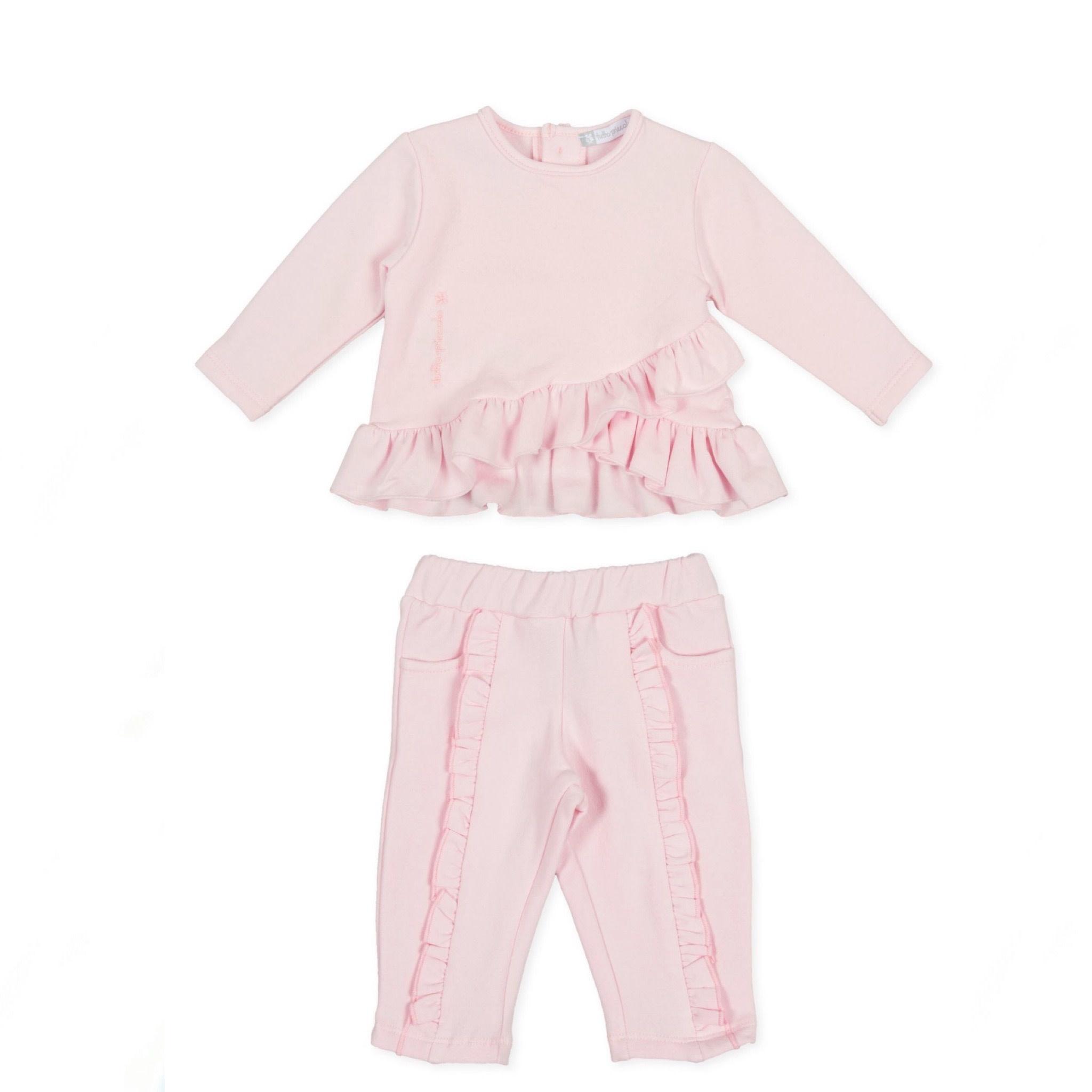 Tutto Piccolo Tutto Piccolo 9726/9125 Pink Ruffle Set