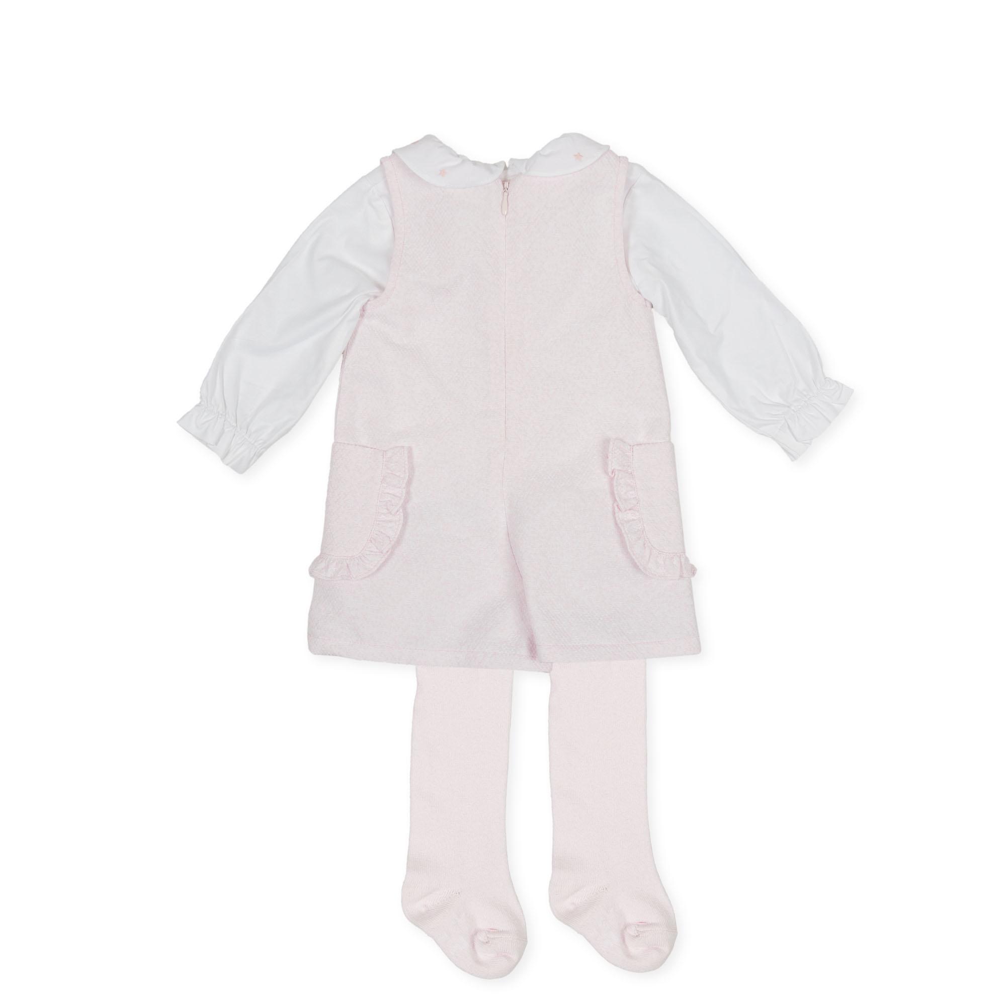 Tutto Piccolo Tutto Piccolo 9413 Pink Set With Tights