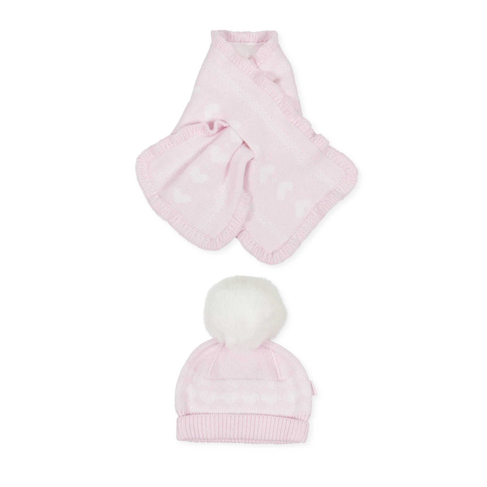 Tutto Piccolo Tutto Piccolo 9918 Pink Hat & Scarf Set