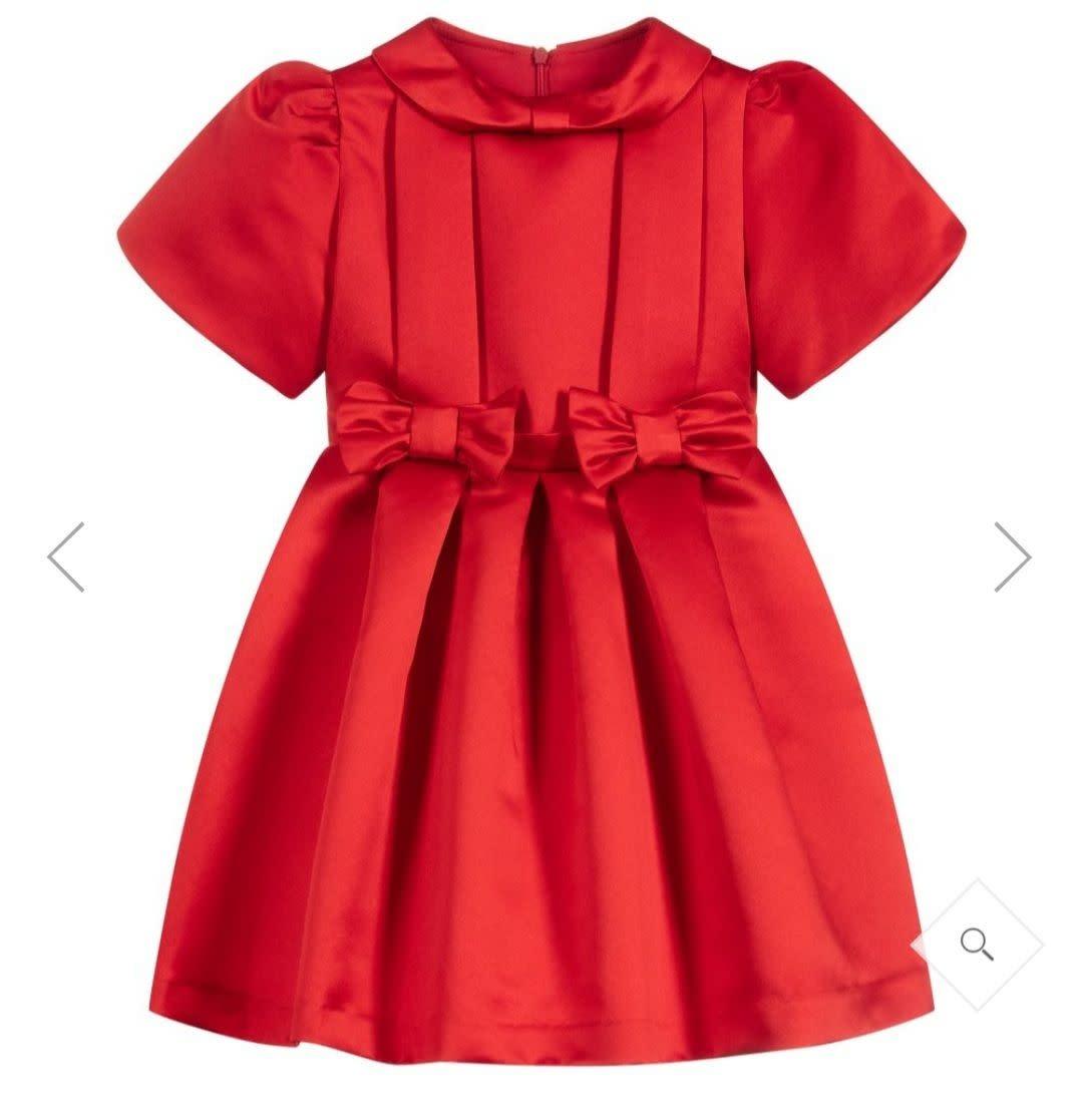 Patachou Patachou Red Satin Dress