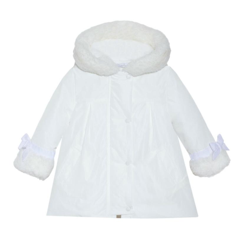 Patachou Patachou Girl Trim Collar Raincoat