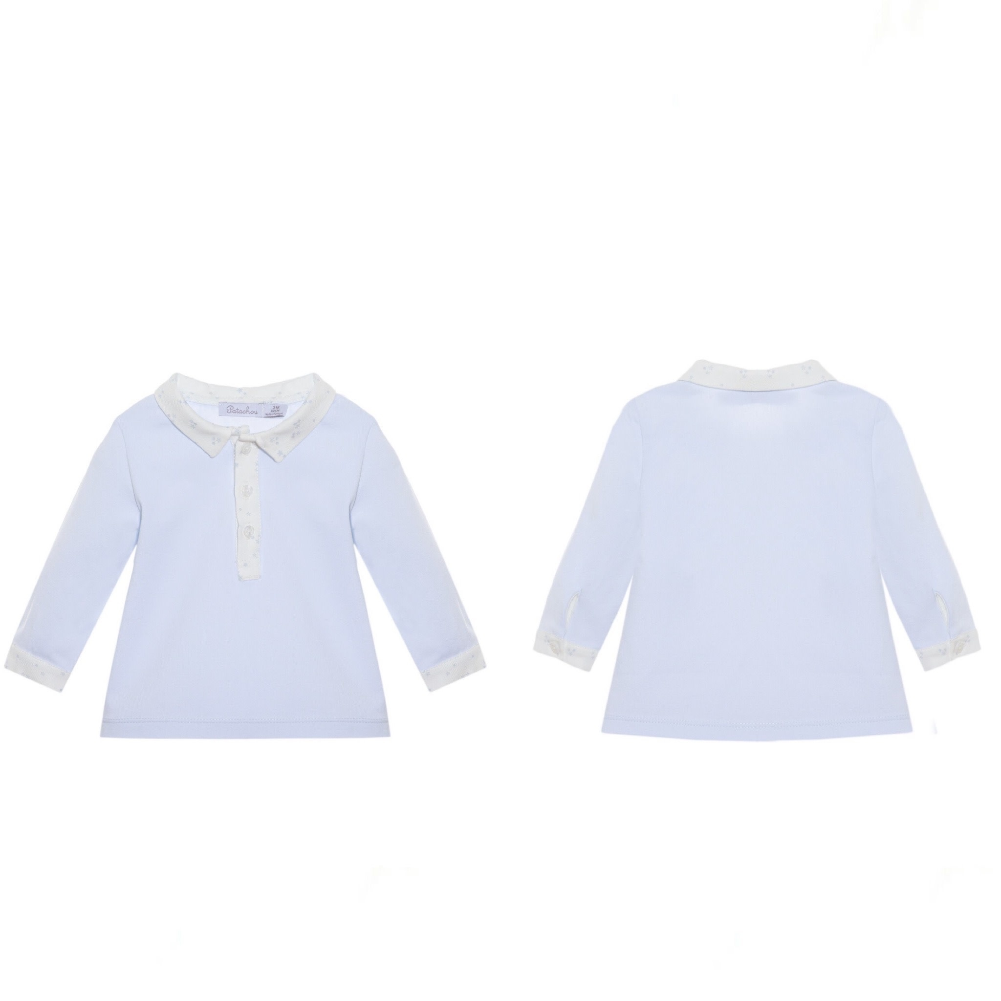 Patachou Patachou  StarsPale Blue Top  and White Trouser Set