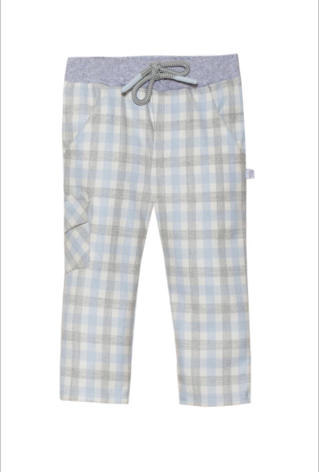 Patachou Patachou Winter White polo shirt & Check Trousers