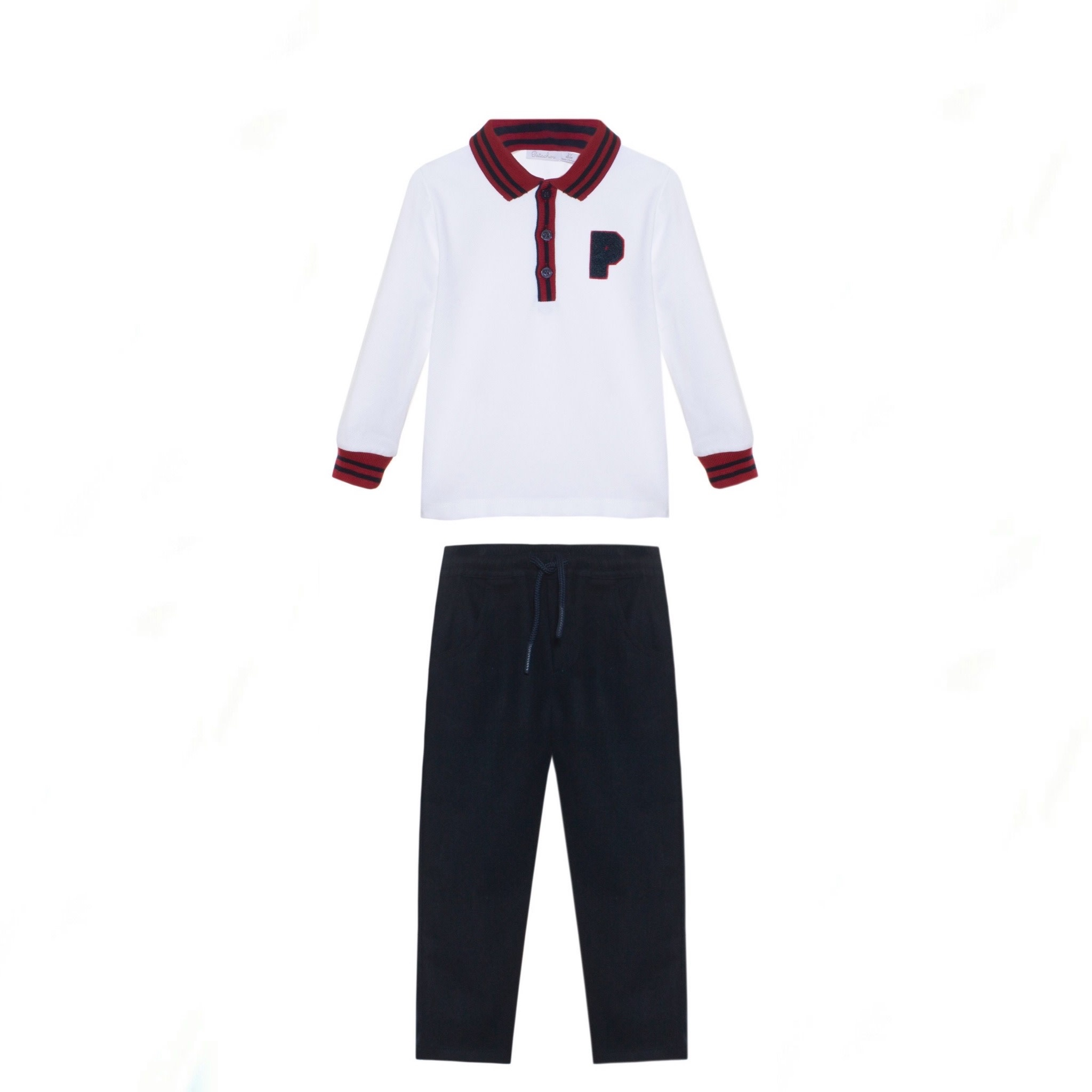 Patachou Patachou P Polo Shirt And Trouser Set