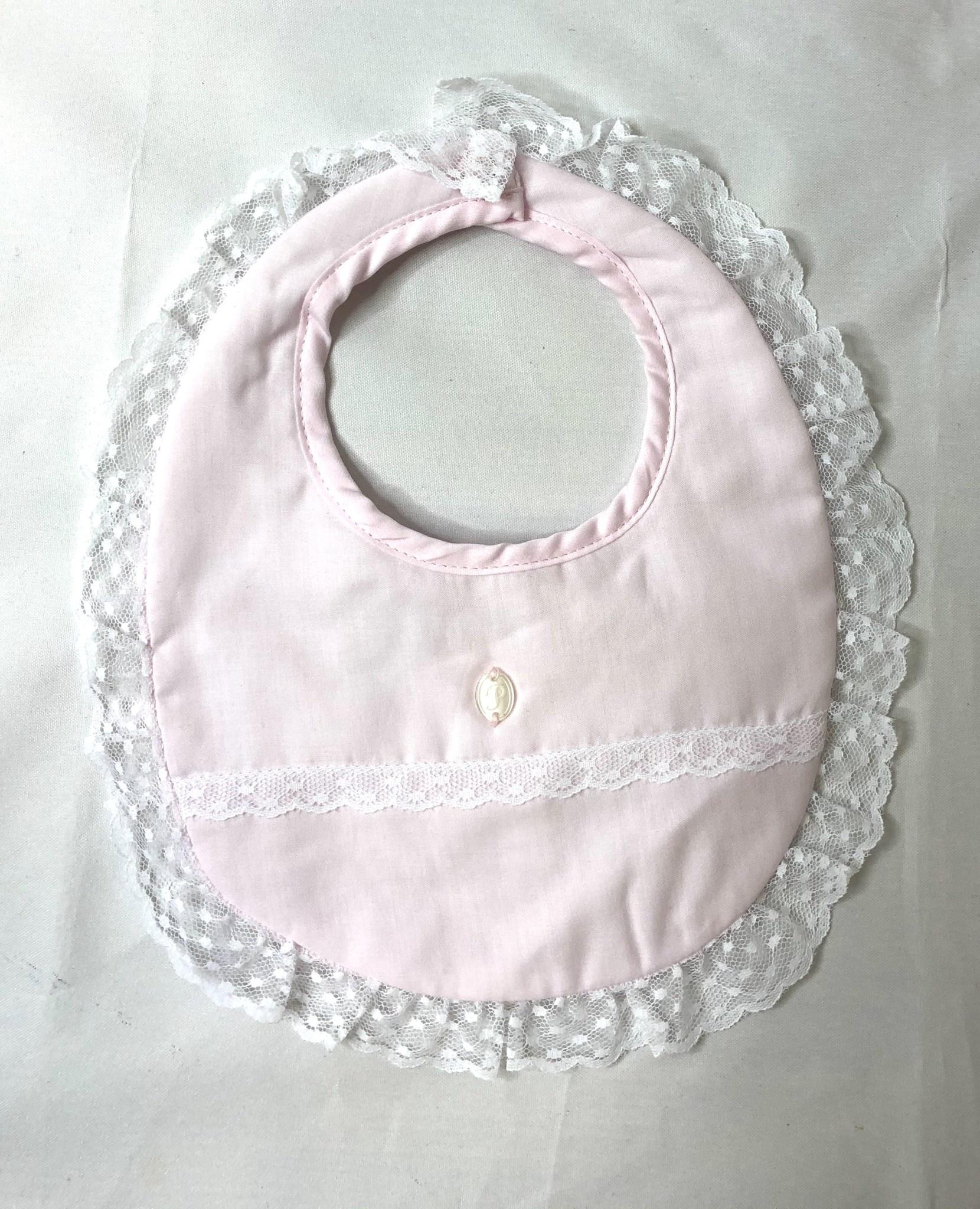 Patachou pink Lace Trim Bib