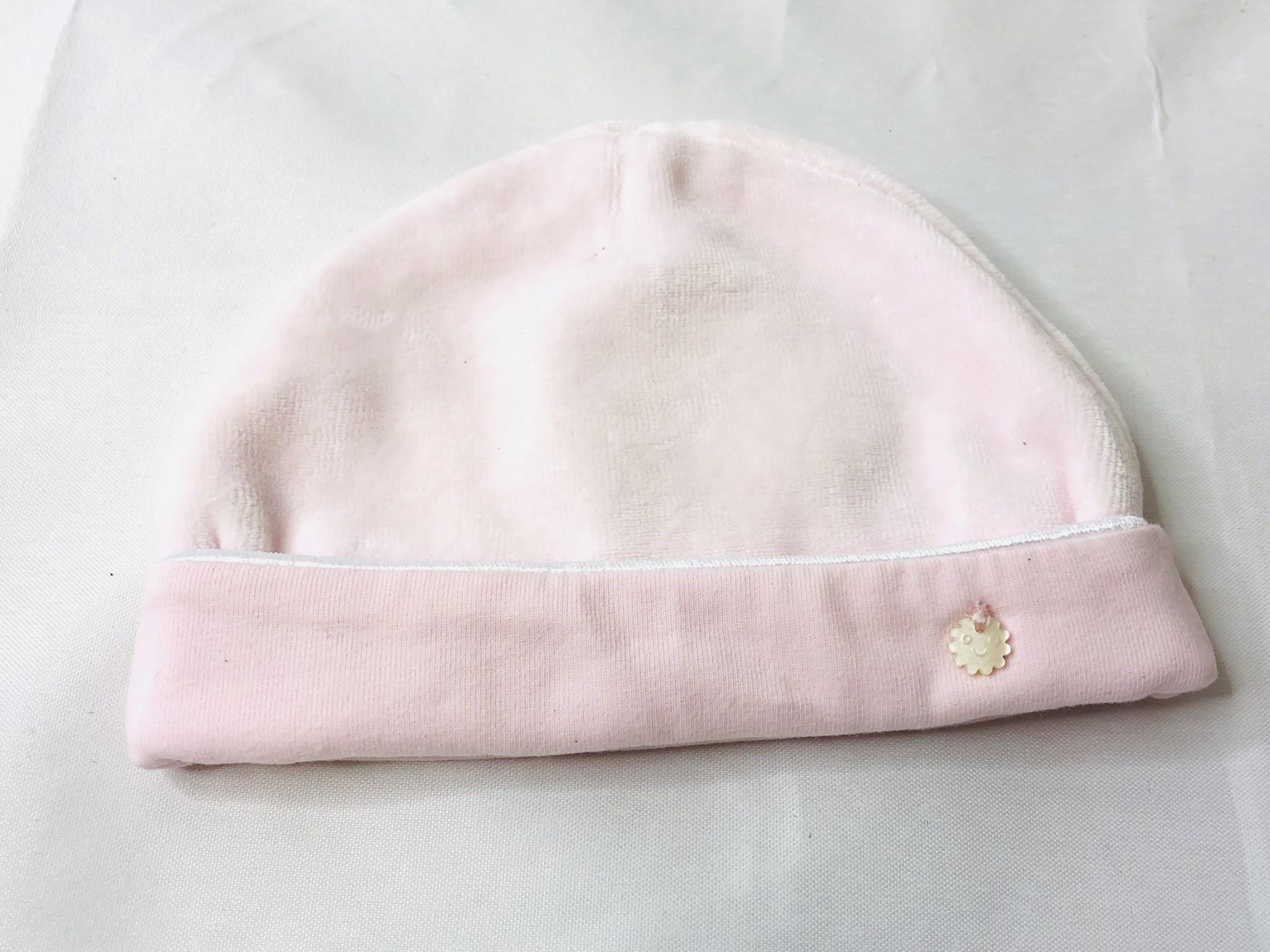 Patachou Pink Newborn Velvet Hat