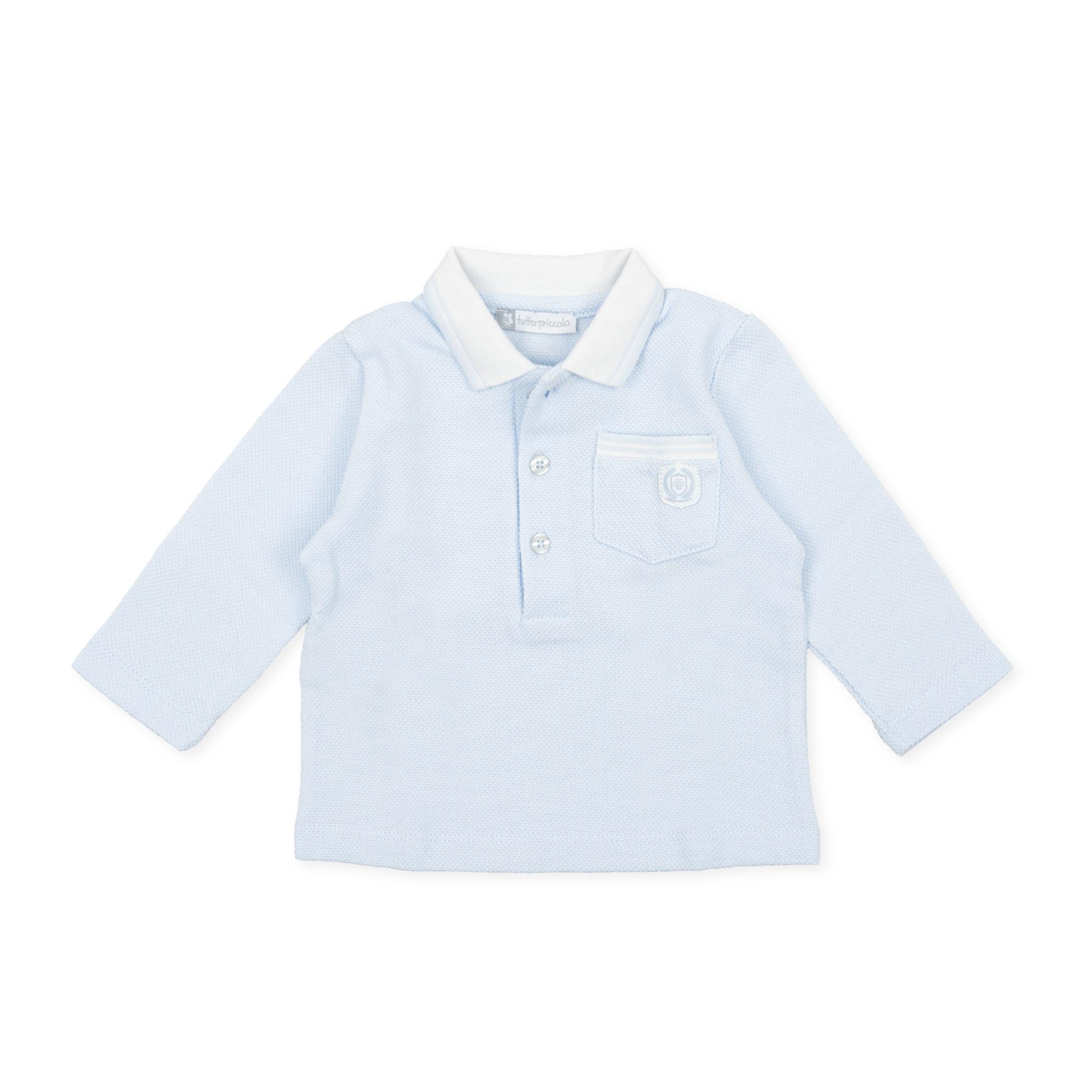 Tutto Piccolo Tutto Piccolo 9720 pale Blue Polo Shirt