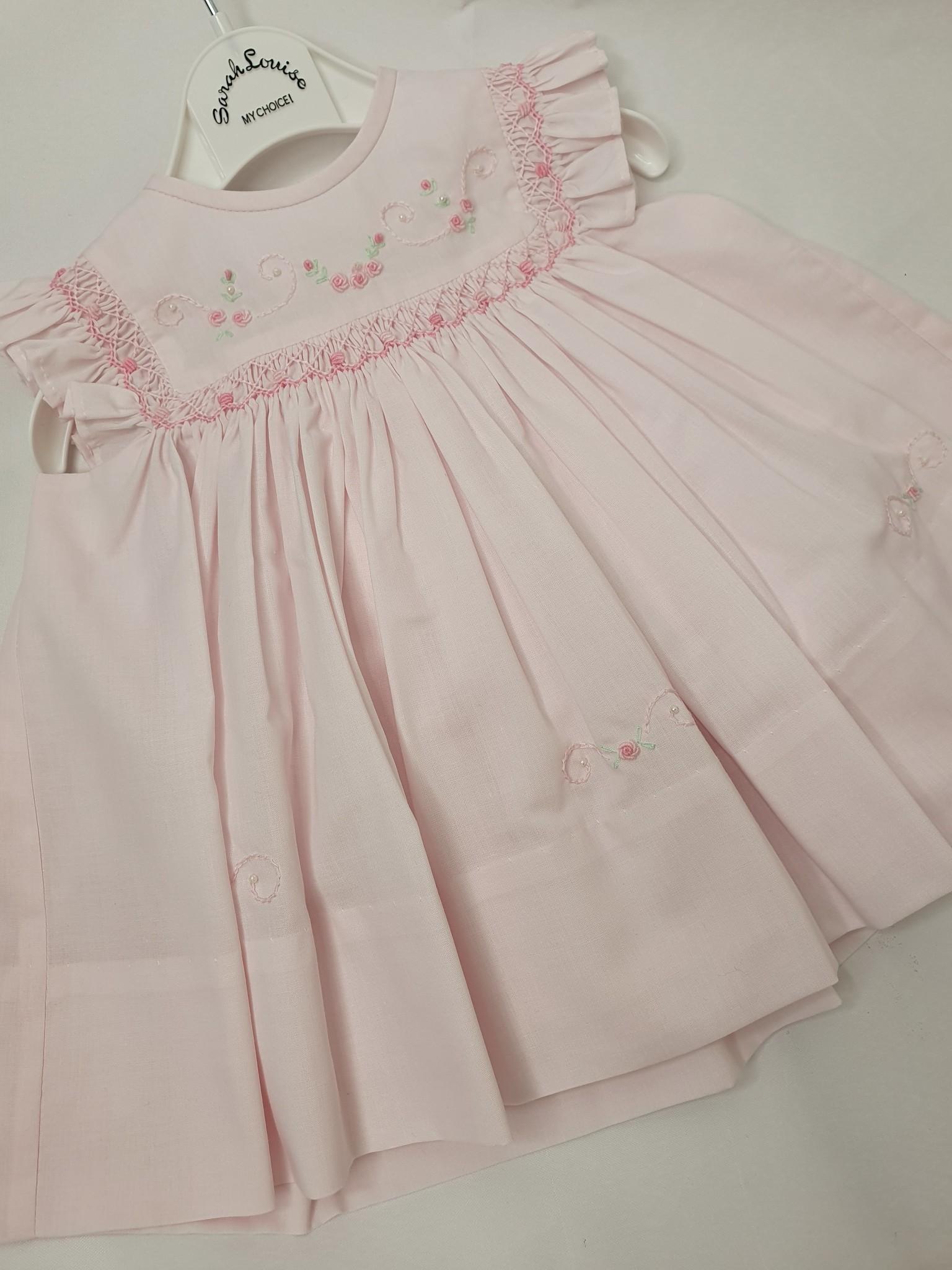 Sarah Louise Sarah Louise 7101 Pink Frill Dress