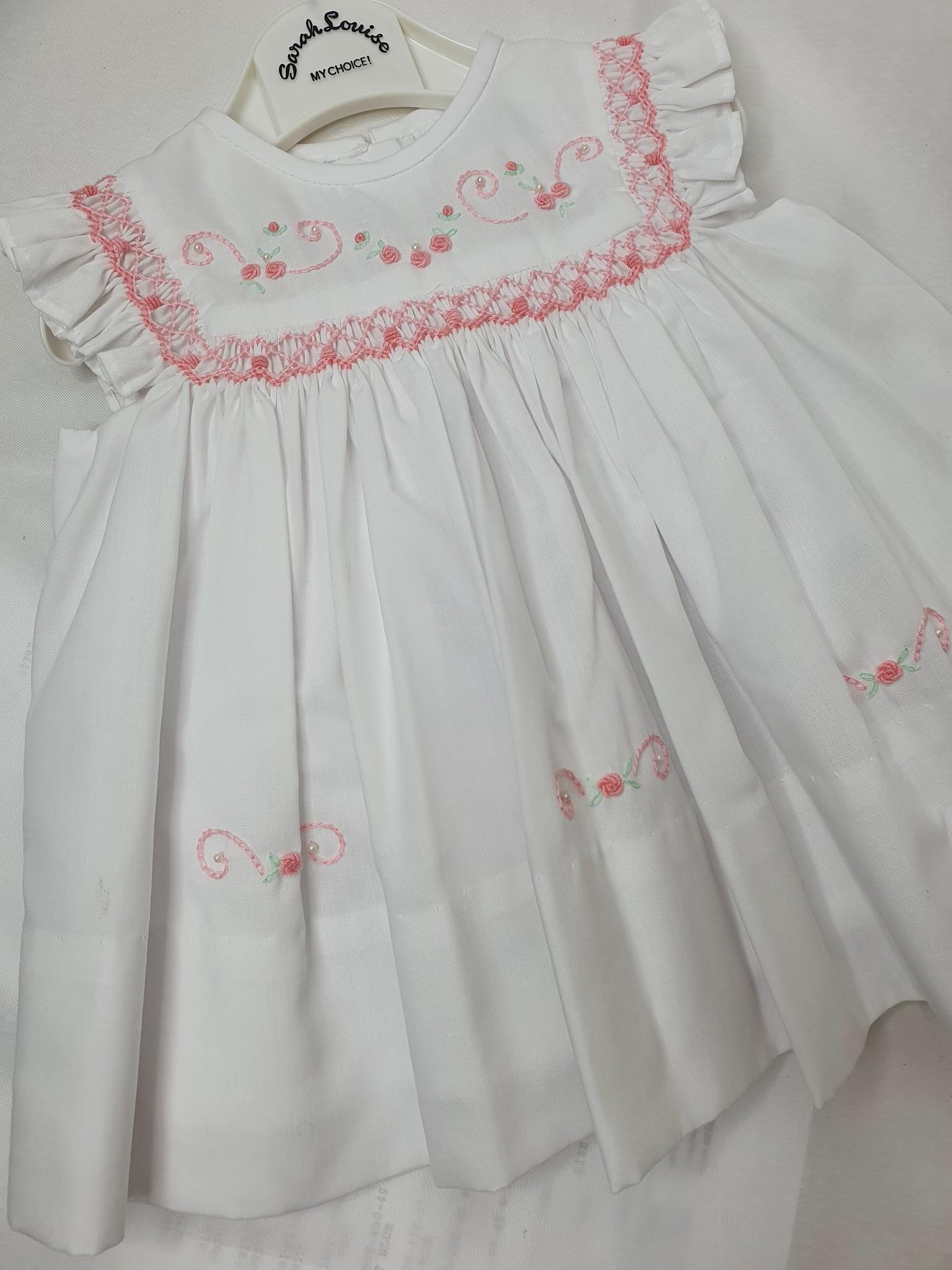 Sarah Louise Sarah Louise White Frill Dress