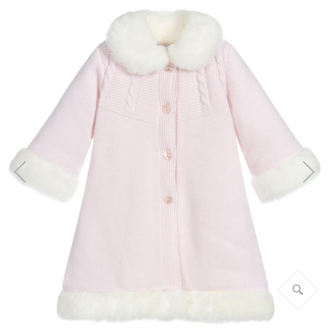 Sarah Louise Sarah Louise Girls Pink Knitted Coat