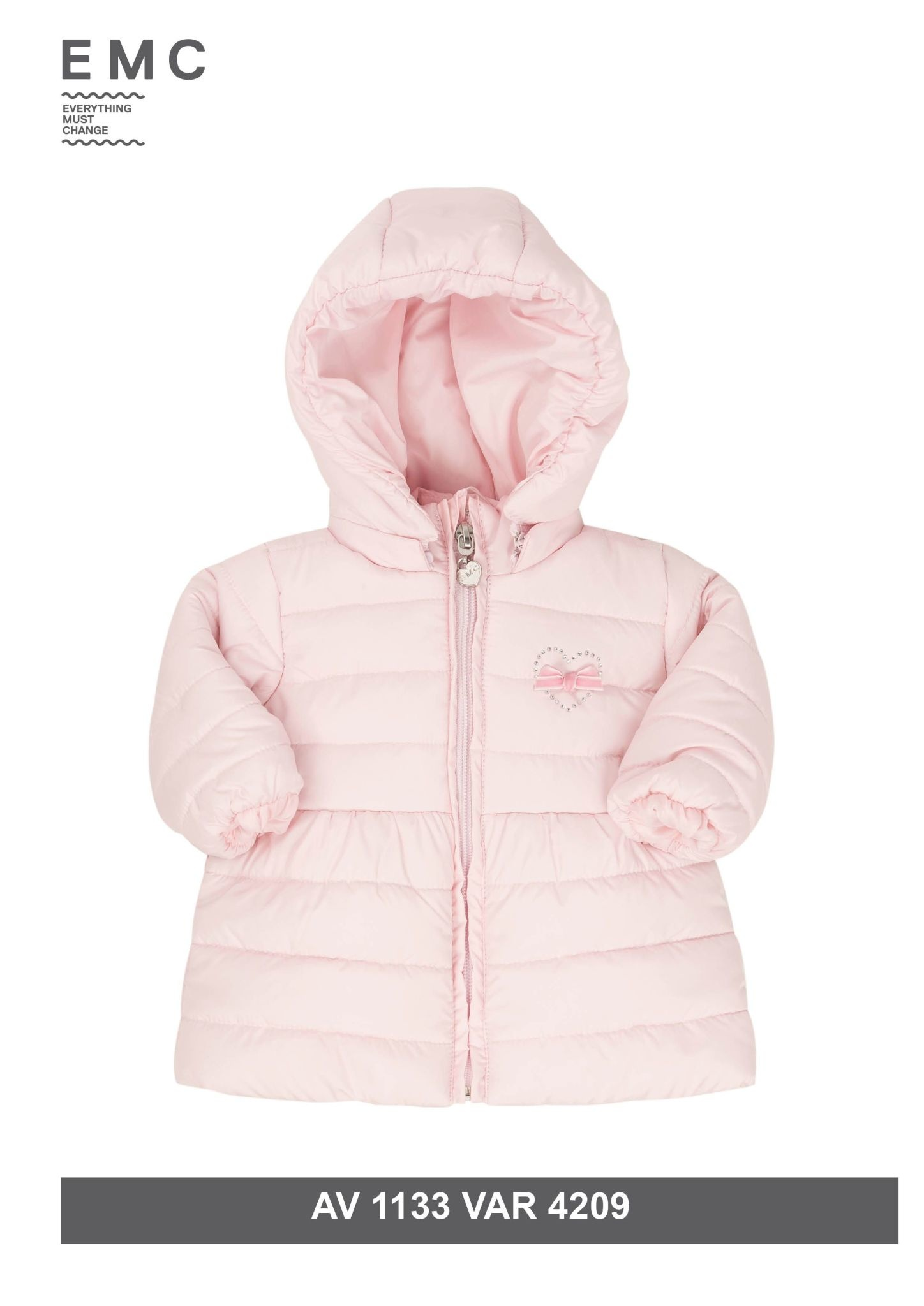 EMC EMC Pink Padded Loveheart Coat
