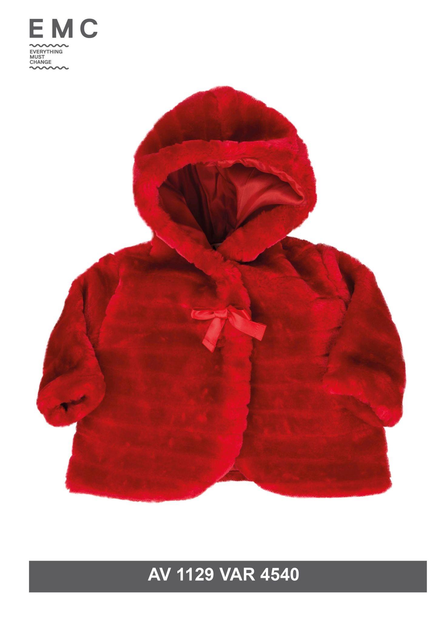 EMC Girls Red Fur Coat