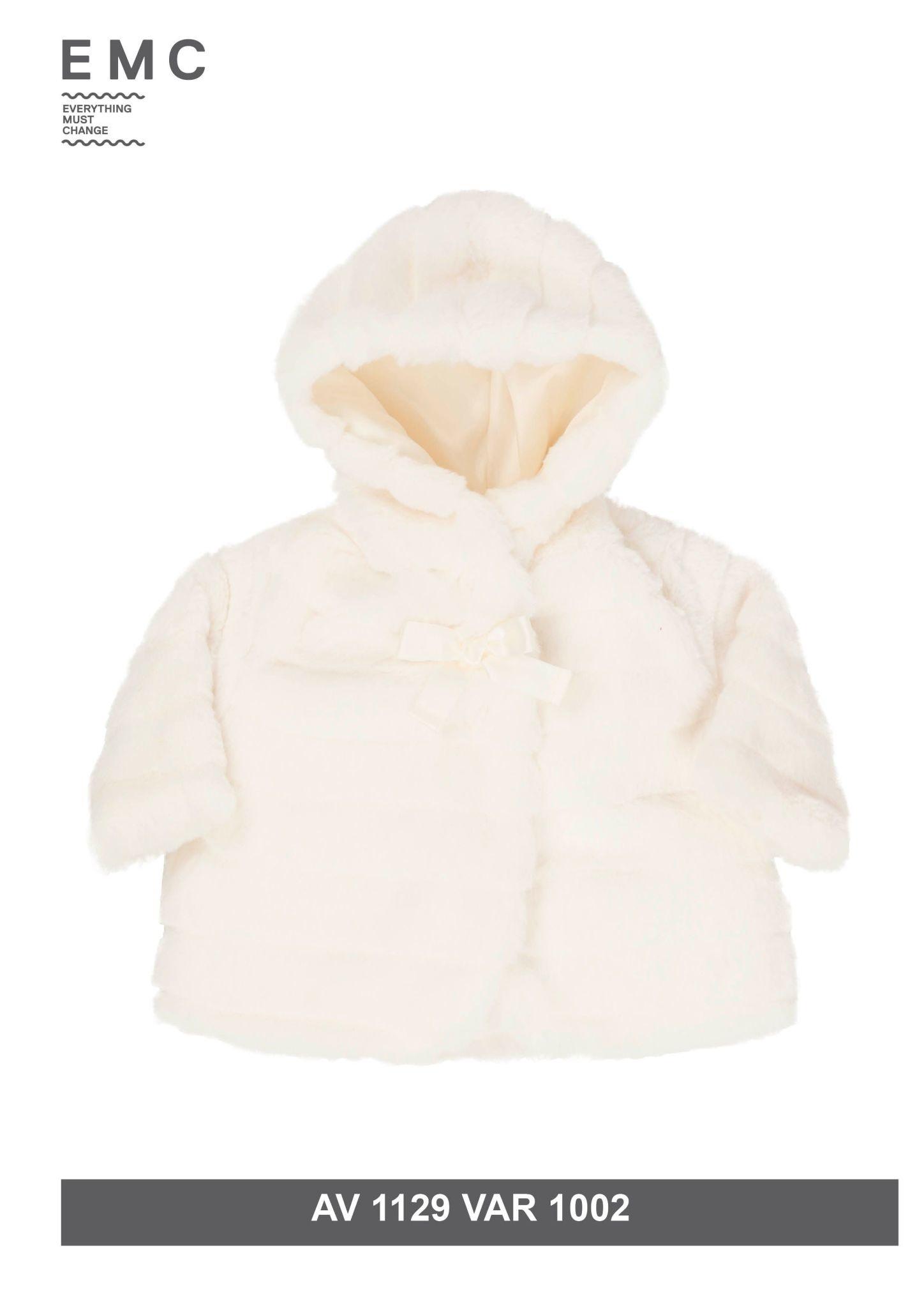 EMC EMC Girls White Fur Coat