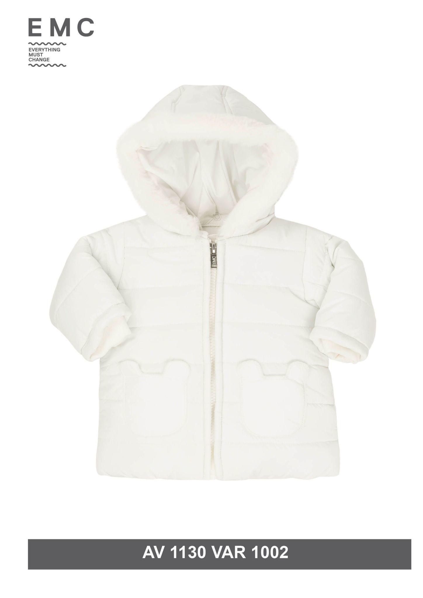 EMC EMC Teddy Fur Lined Coat White