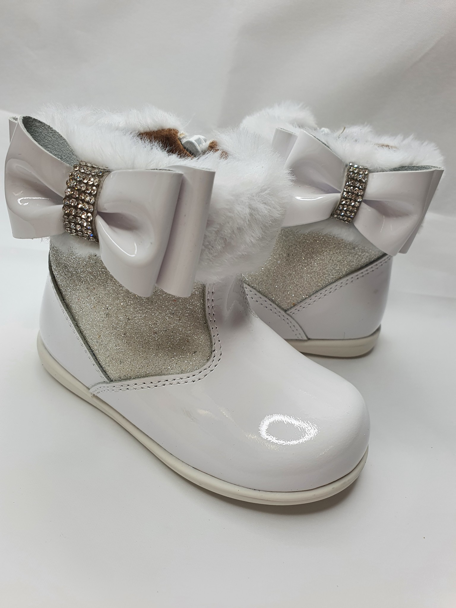 Andanines Andanines 202860 White Glitter Patent Boot