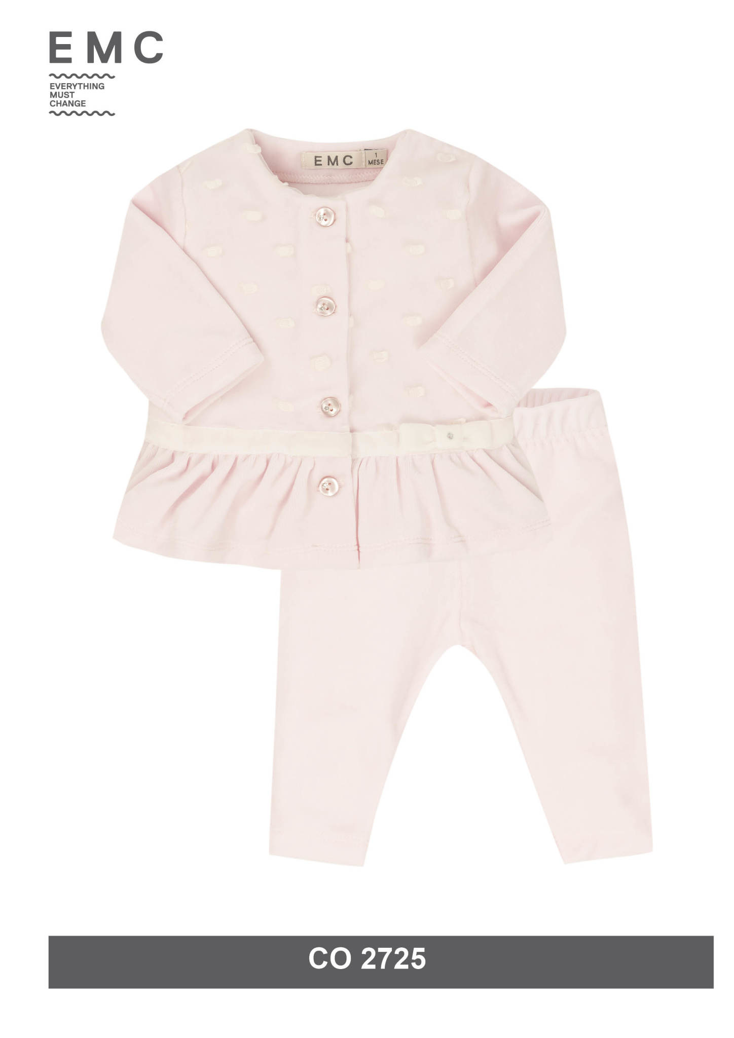 EMC EMC CO2725 Pink Dot Velvet 2 Piece