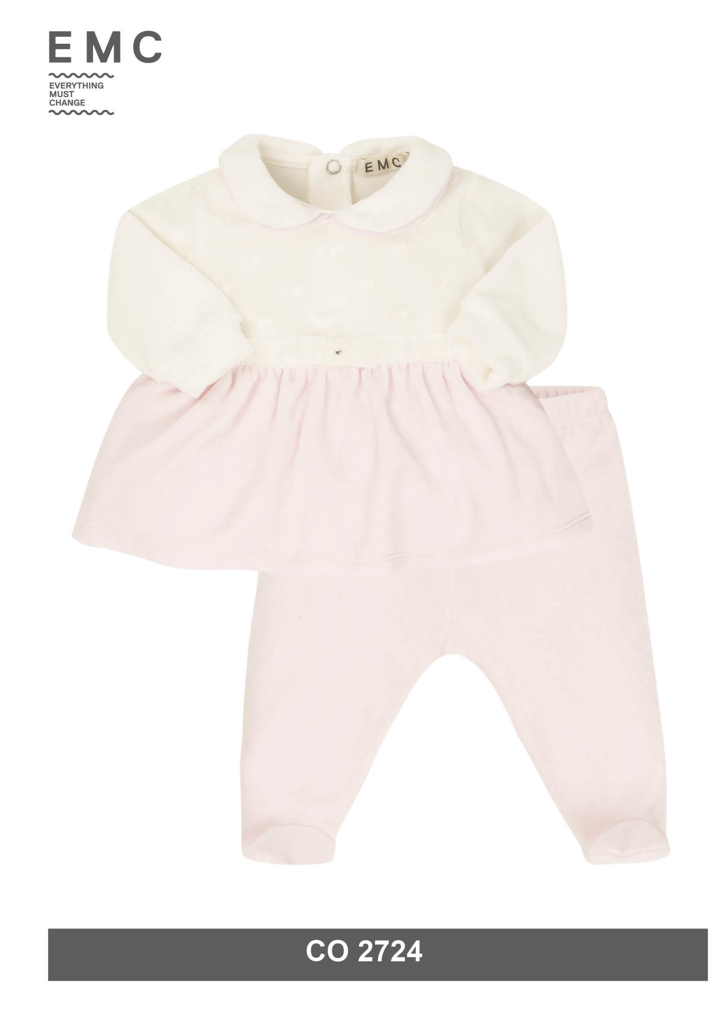 EMC EMC CO2802 Pink/White Velvet 2 Piece