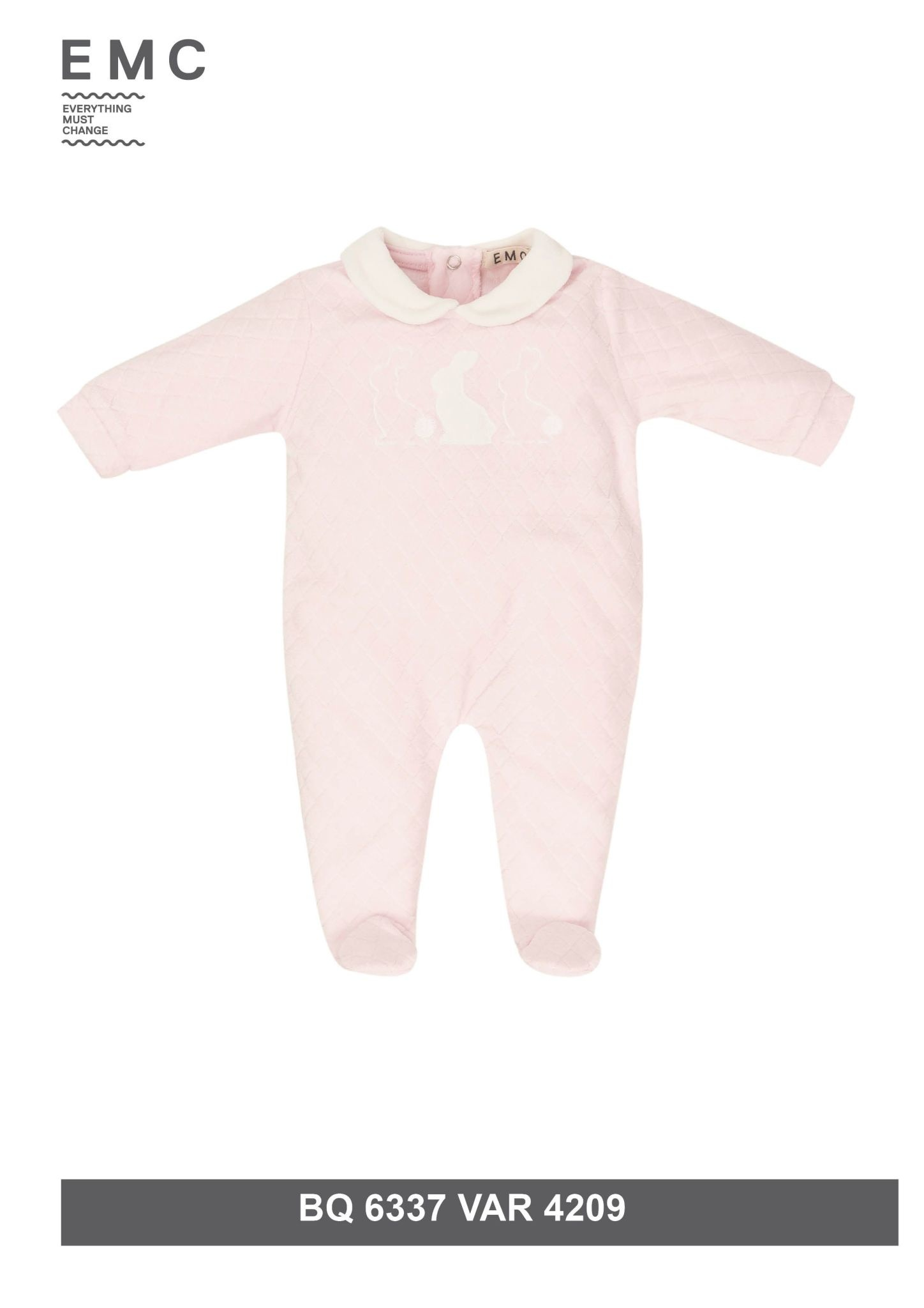 EMC EMC Girls Rabbit Baby Grow 6337