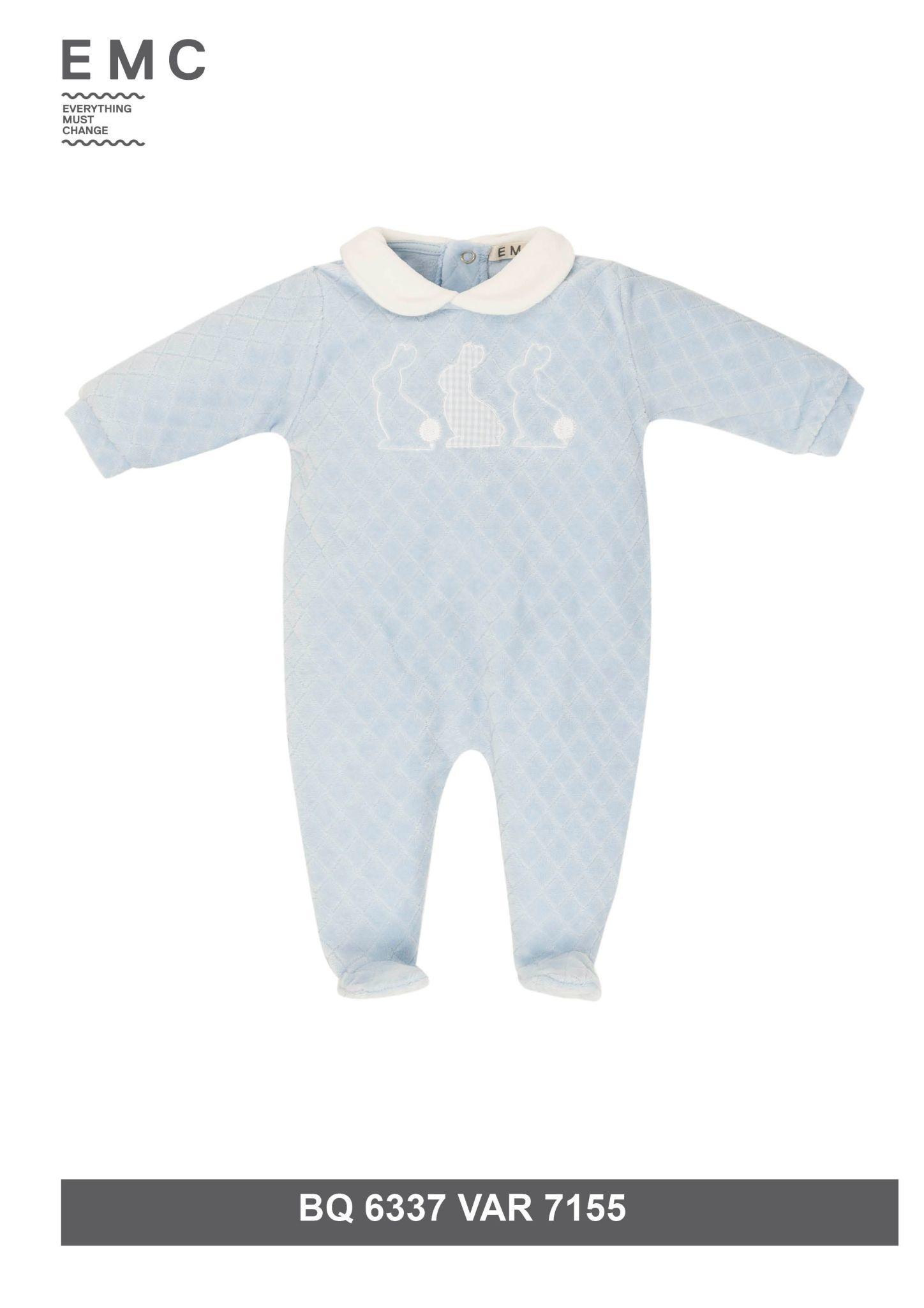 EMC EMC Boys Rabbit Baby Grow 6337