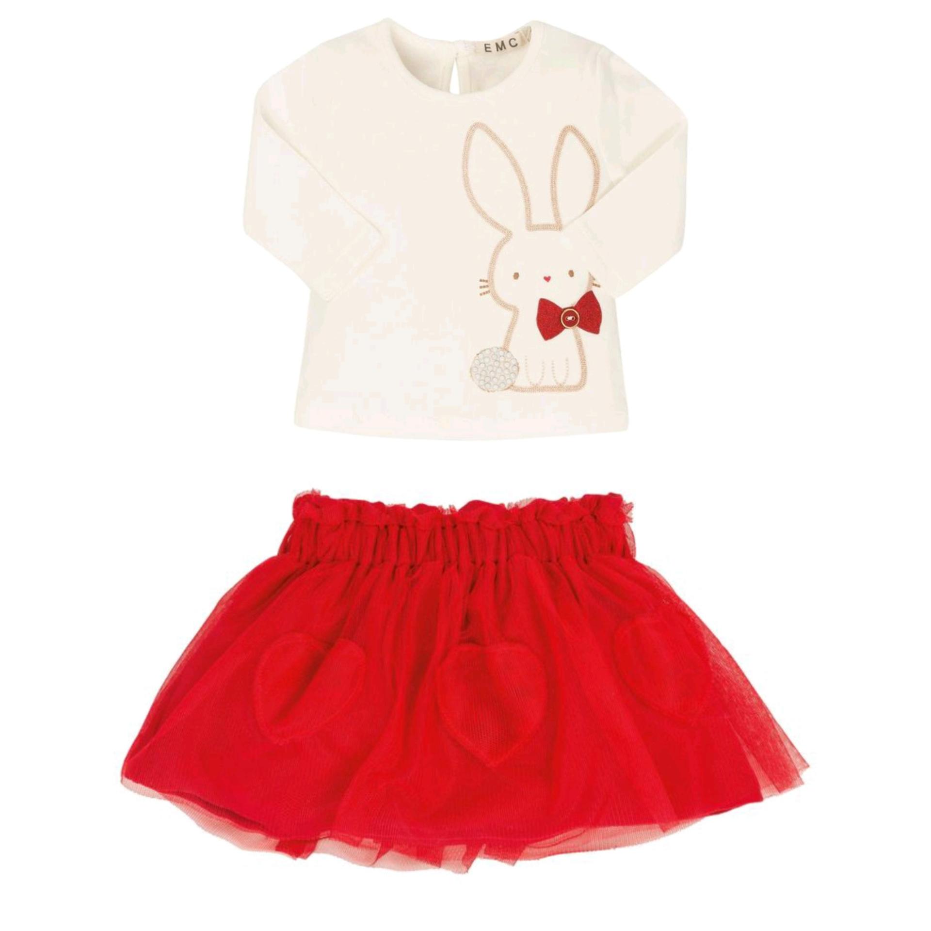 EMC EMC Girls Red Tulle Skirt Set