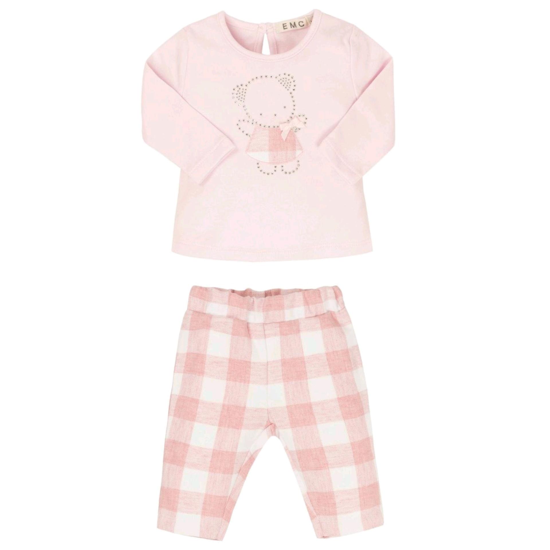 EMC EMC Pink Checked Trouser Set