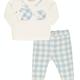 EMC EMC Boys Blue Checked Trouser Set