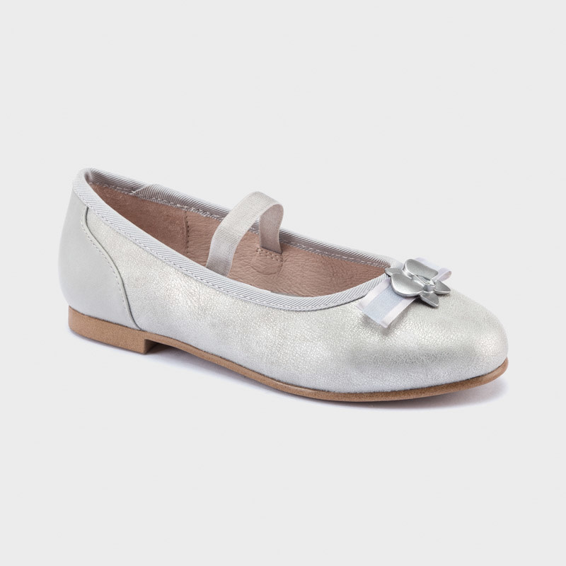 mayoral Mayoral Girls Silver Bow Shoe