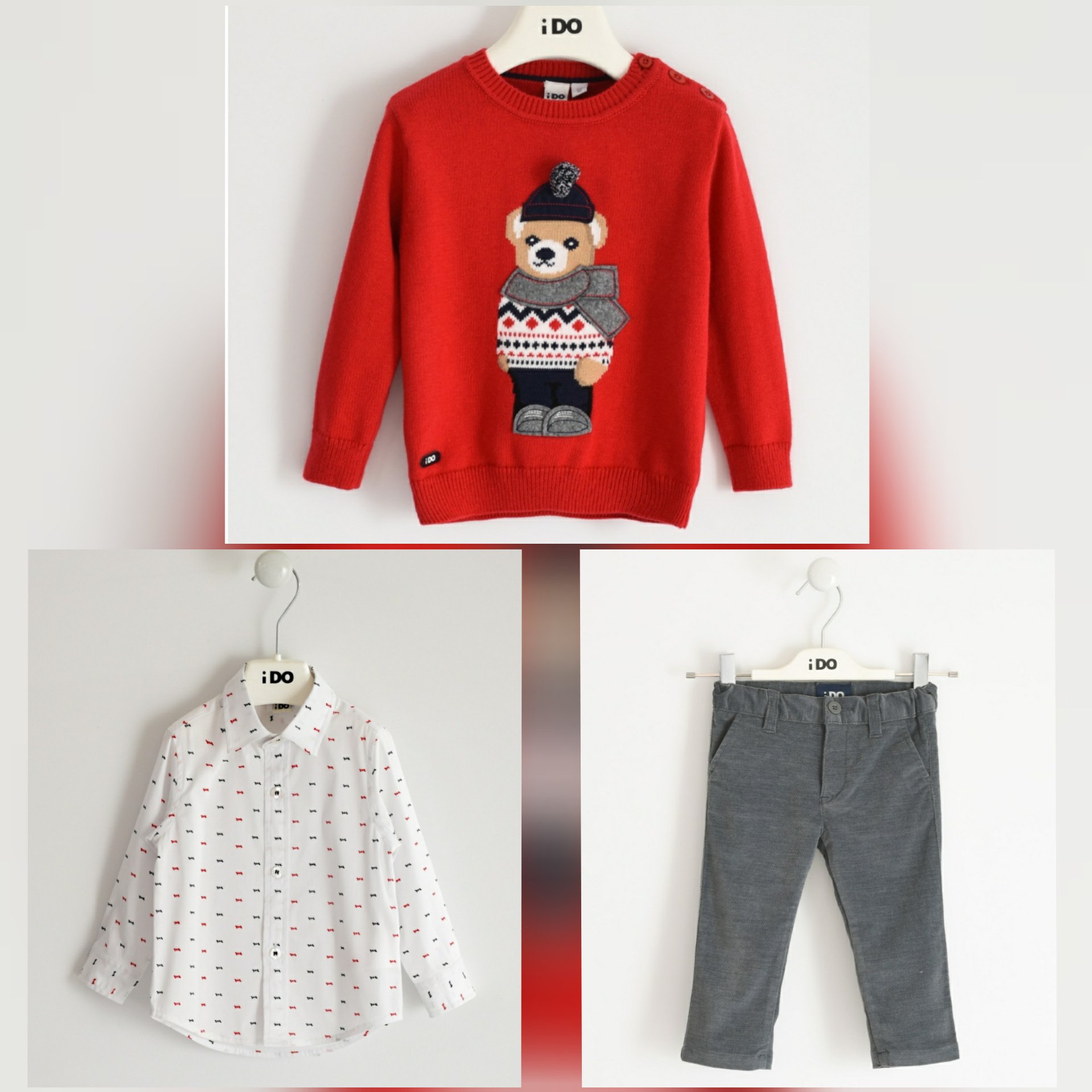 Ido IDO Boys Teddy 3 Piece Set