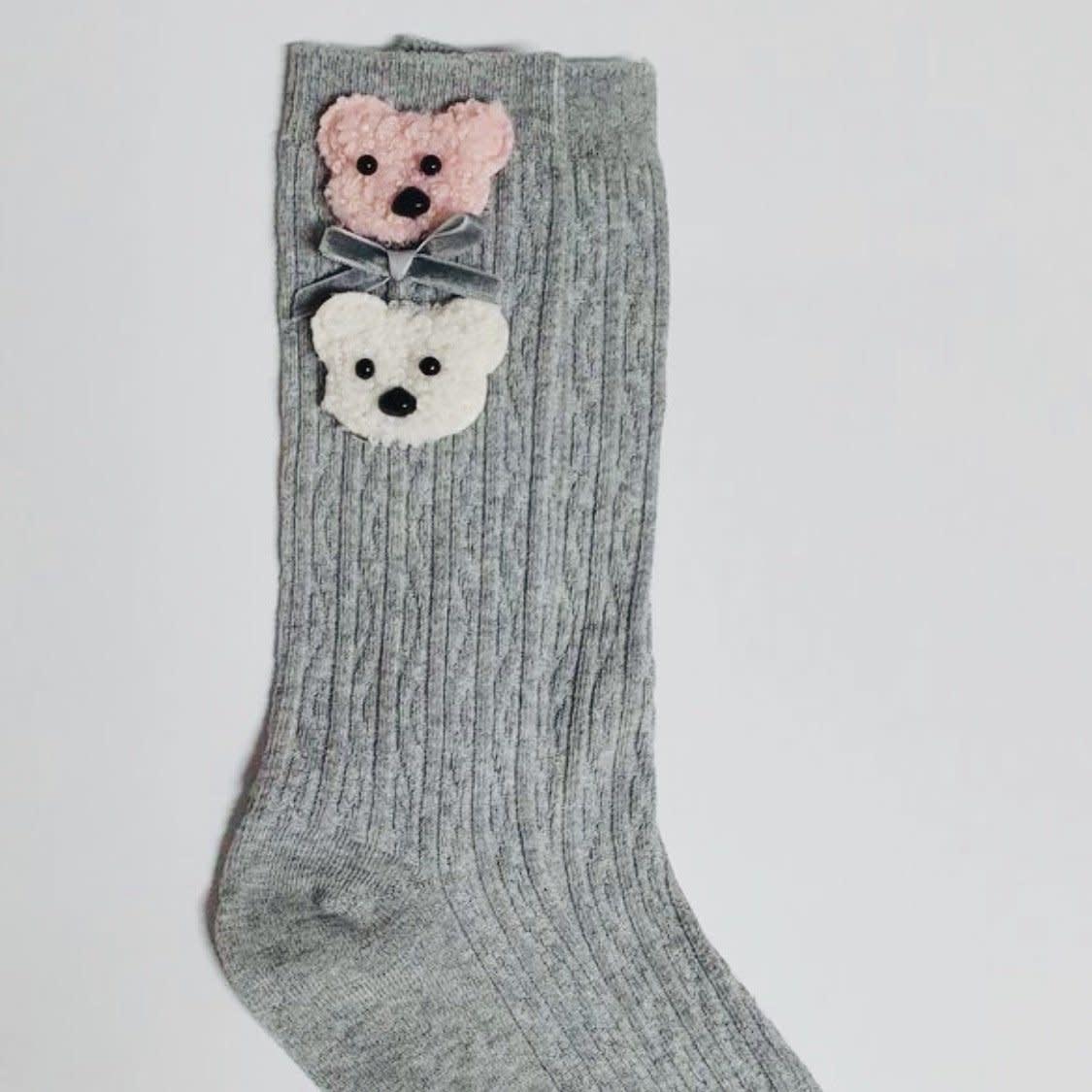 Daga Daga Grey Sock with Teddy