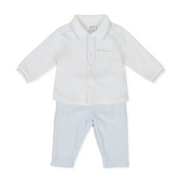 Tutto Piccolo Tutto Piccolo 9583 Blue outfit with corded Velvet Trousers