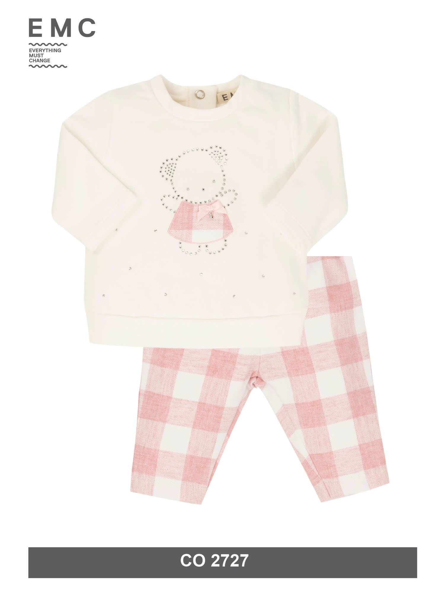 EMC EMC Girls Pink Checked Set