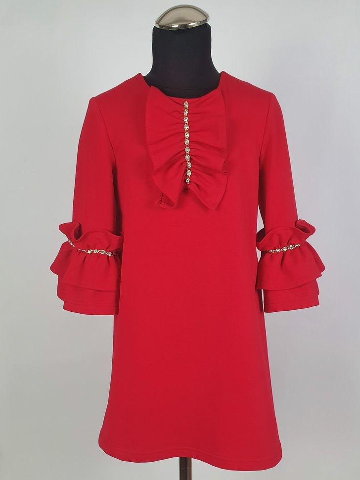 Daga DAGA RED RUFFLE DRESS 8037