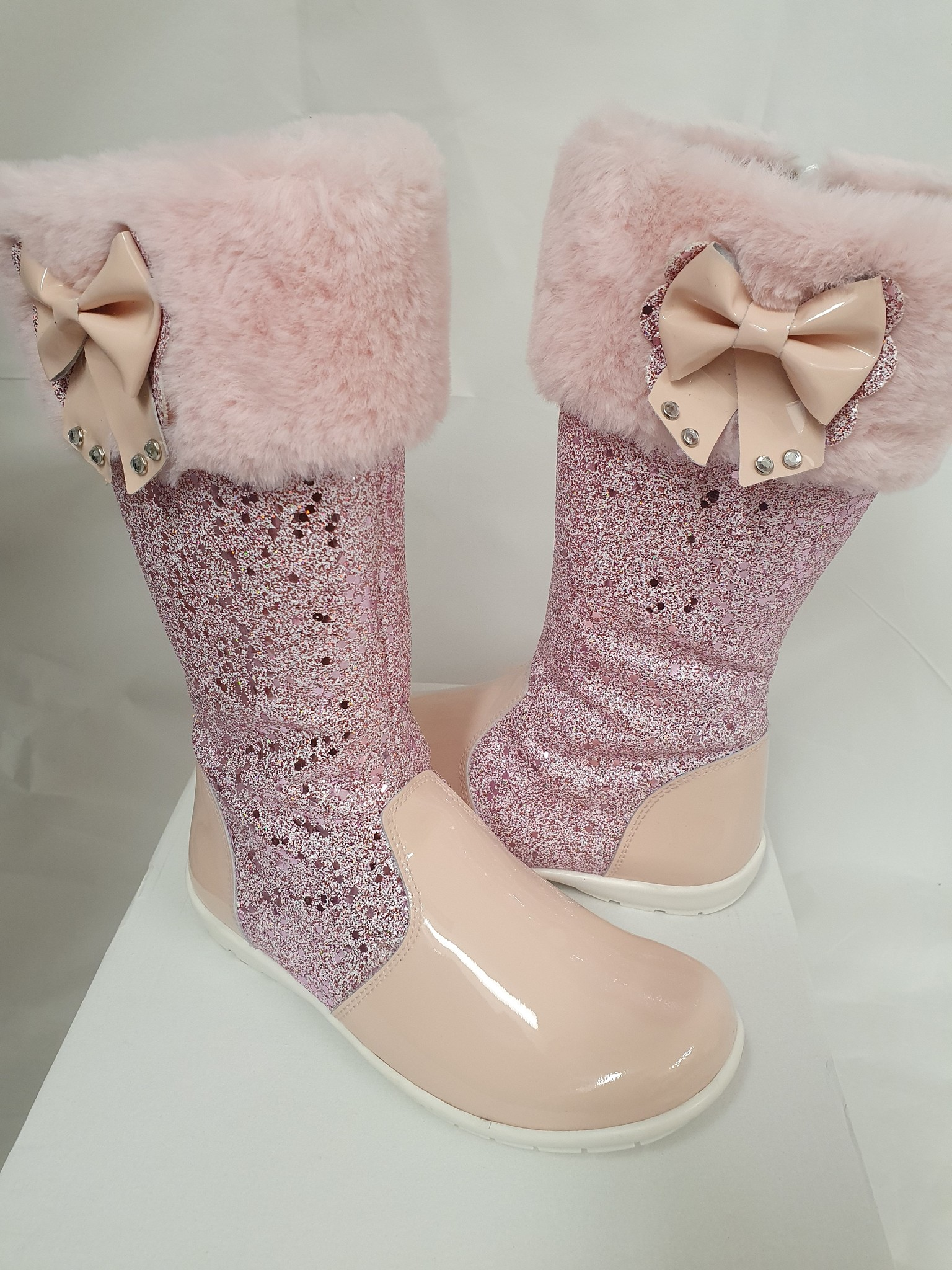 Andanines Andanines Knee High Glitter Boots