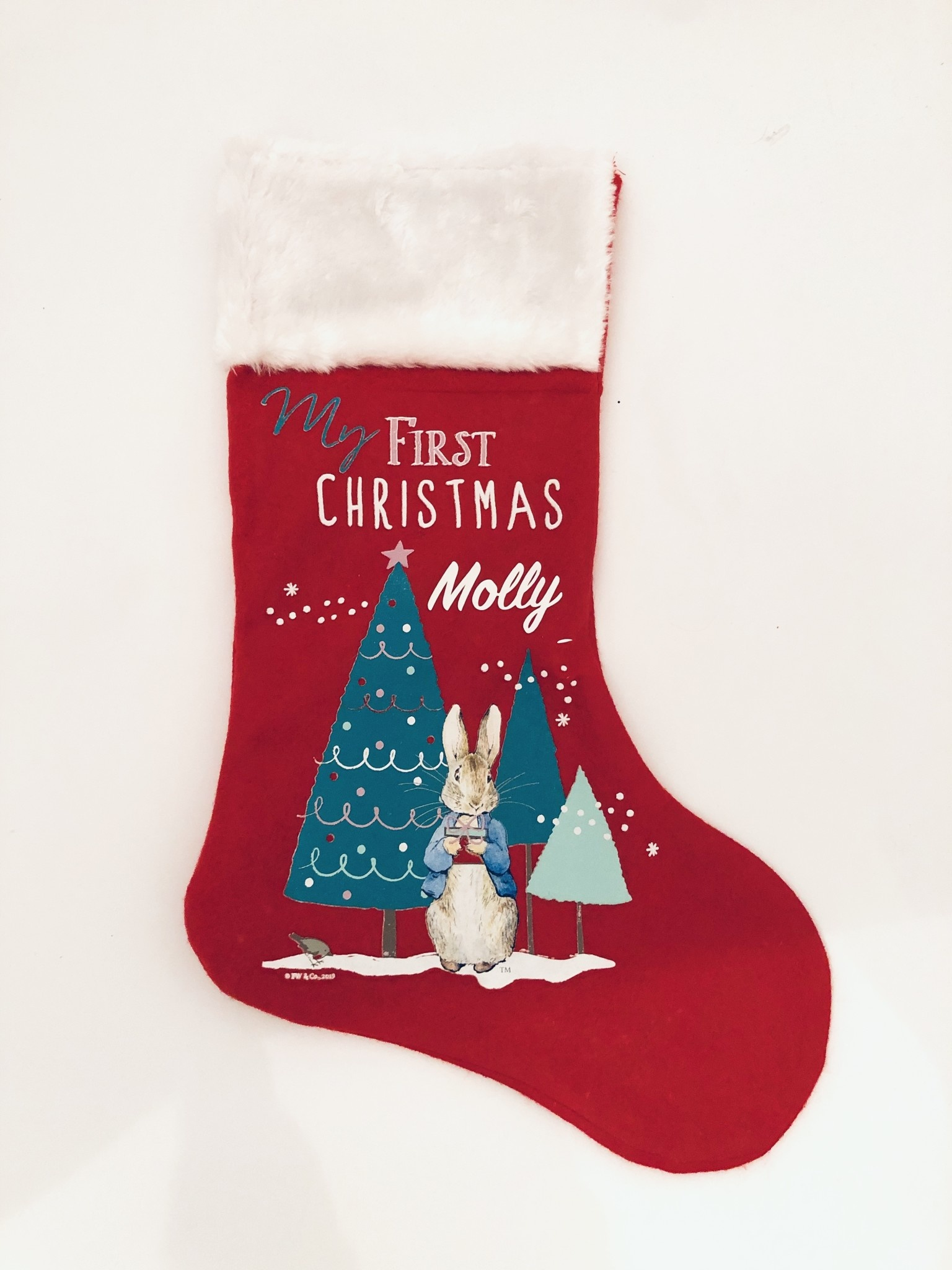 My First Christmas Peter Rabbit Personalised Stocking