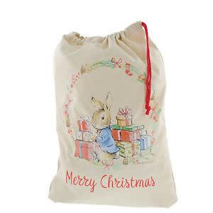 Peter Rabbit & Presents Personalised Christmas Sack