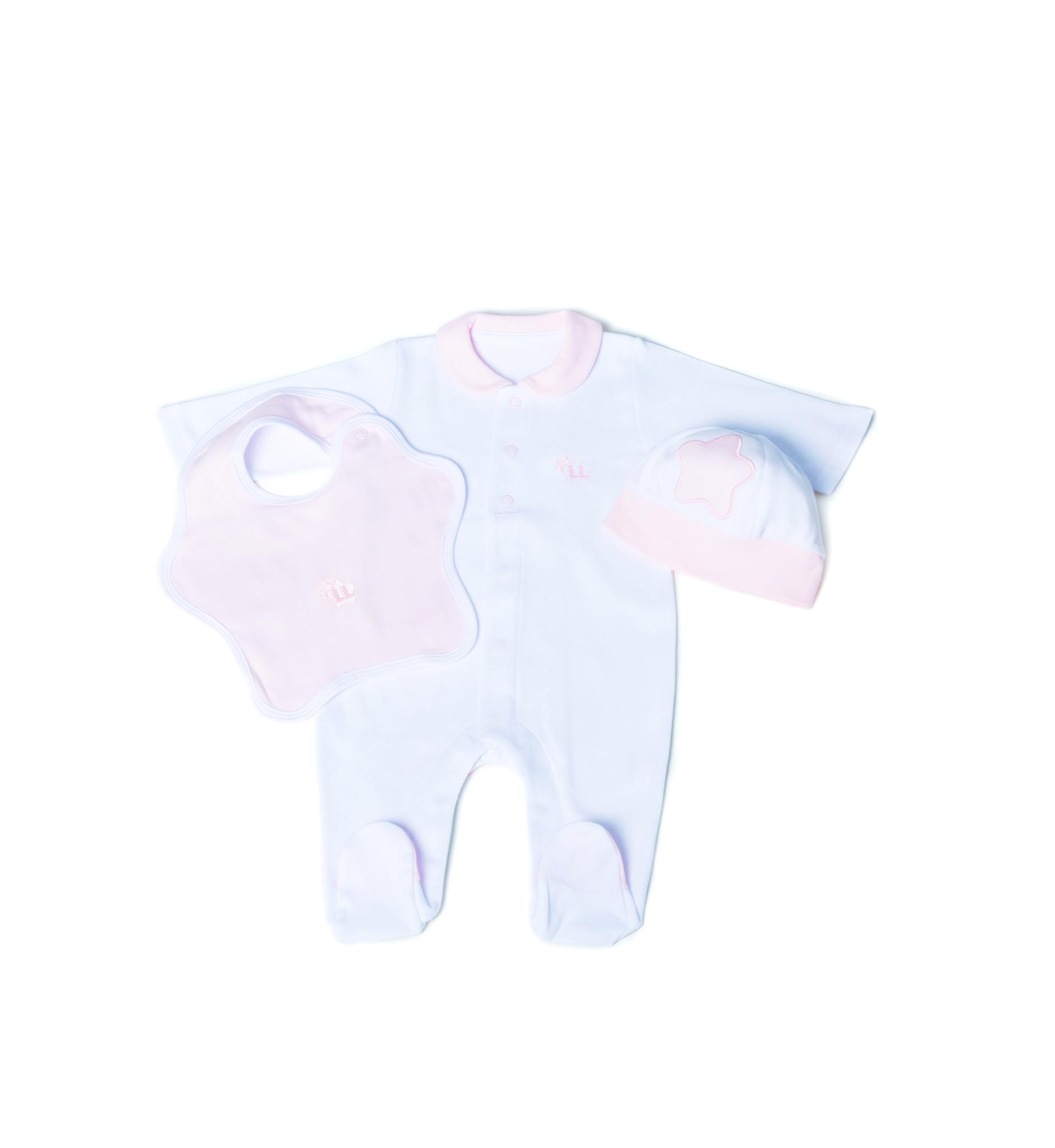 Little Lads & Ladies Single Pink Bottom Star LL02