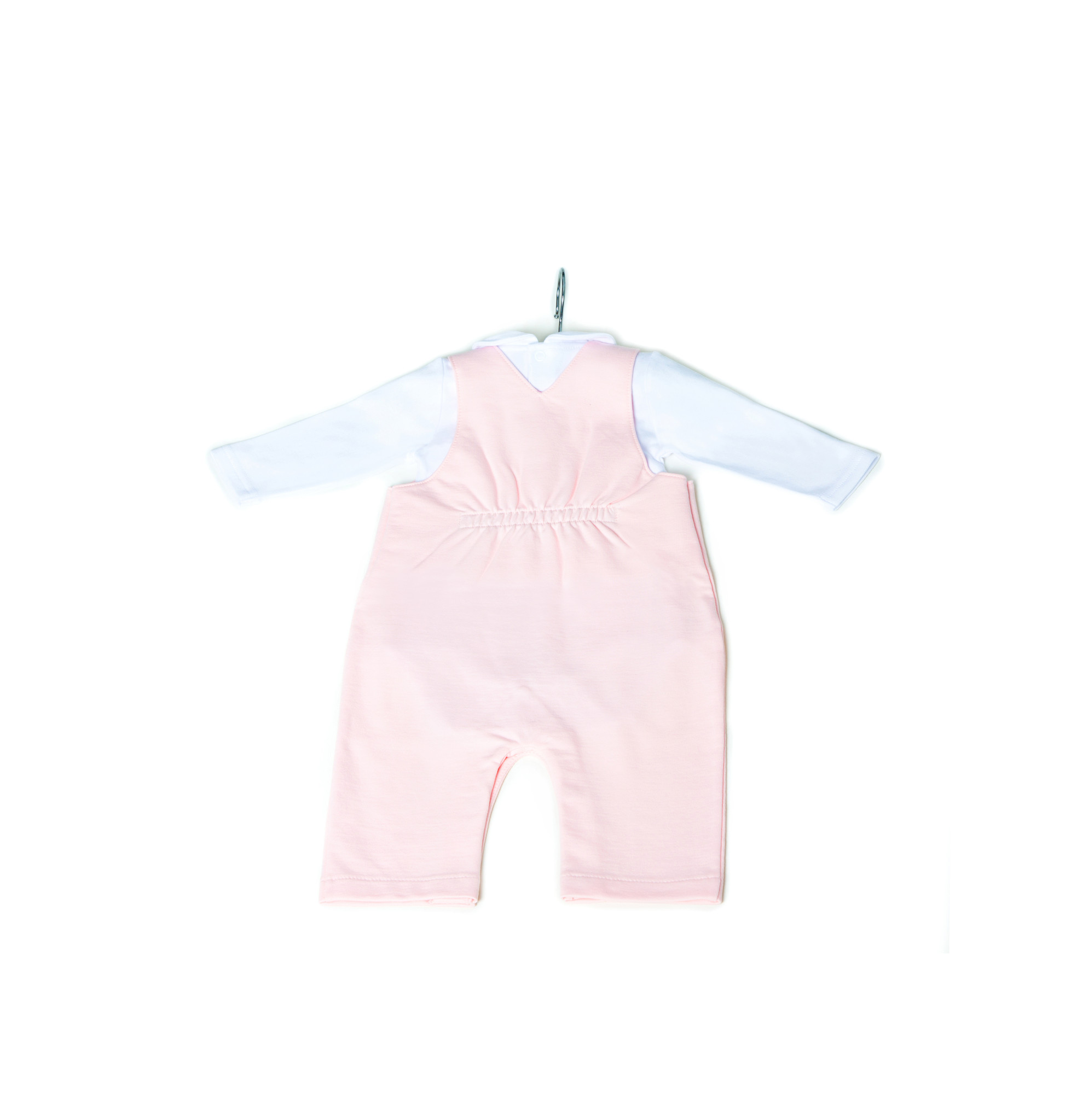 Little Lads & Ladies Pink Dungaree Body LL05