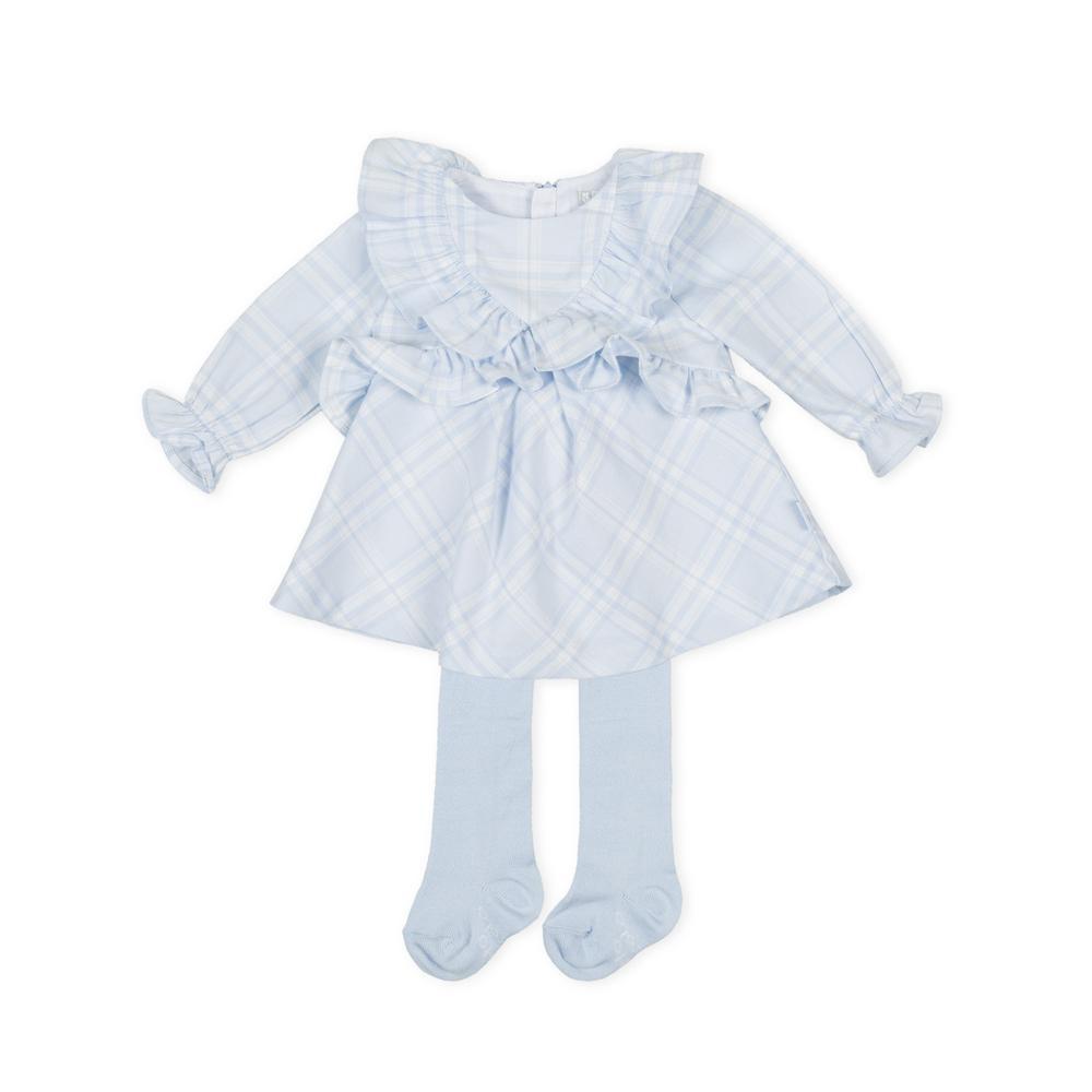 Tutto Piccolo Tutto Piccolo Blue Check Dress & Tights