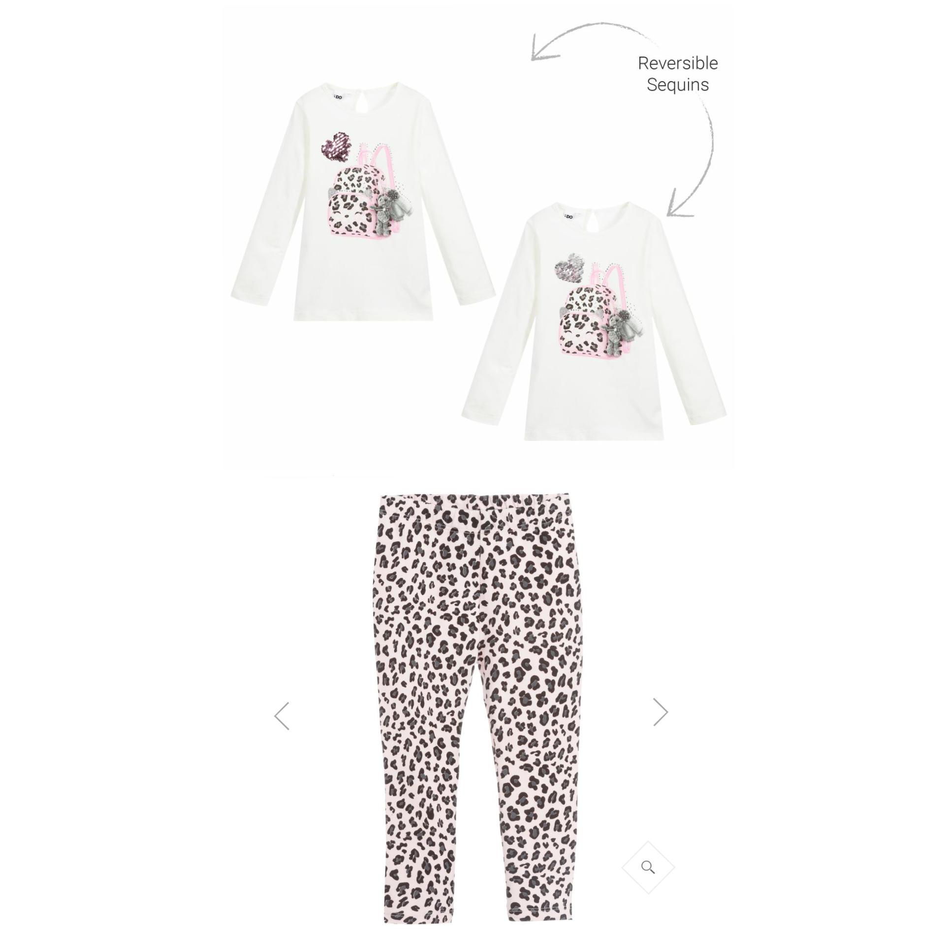 Ido IDO Pink Handbag Print Legging Set