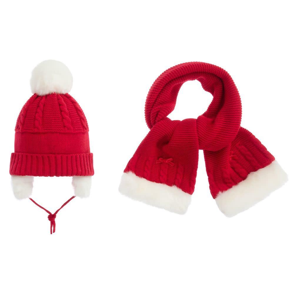 Sarah Louise Sarah Louise Red Hat / Scarf Set