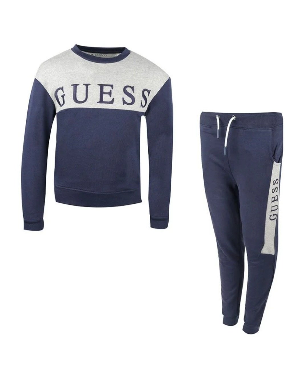 Guess Guess Blue & Grey Logo Tracksuit