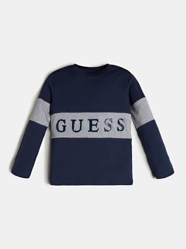 Guess Guess Boys Logo Navy T-shirt