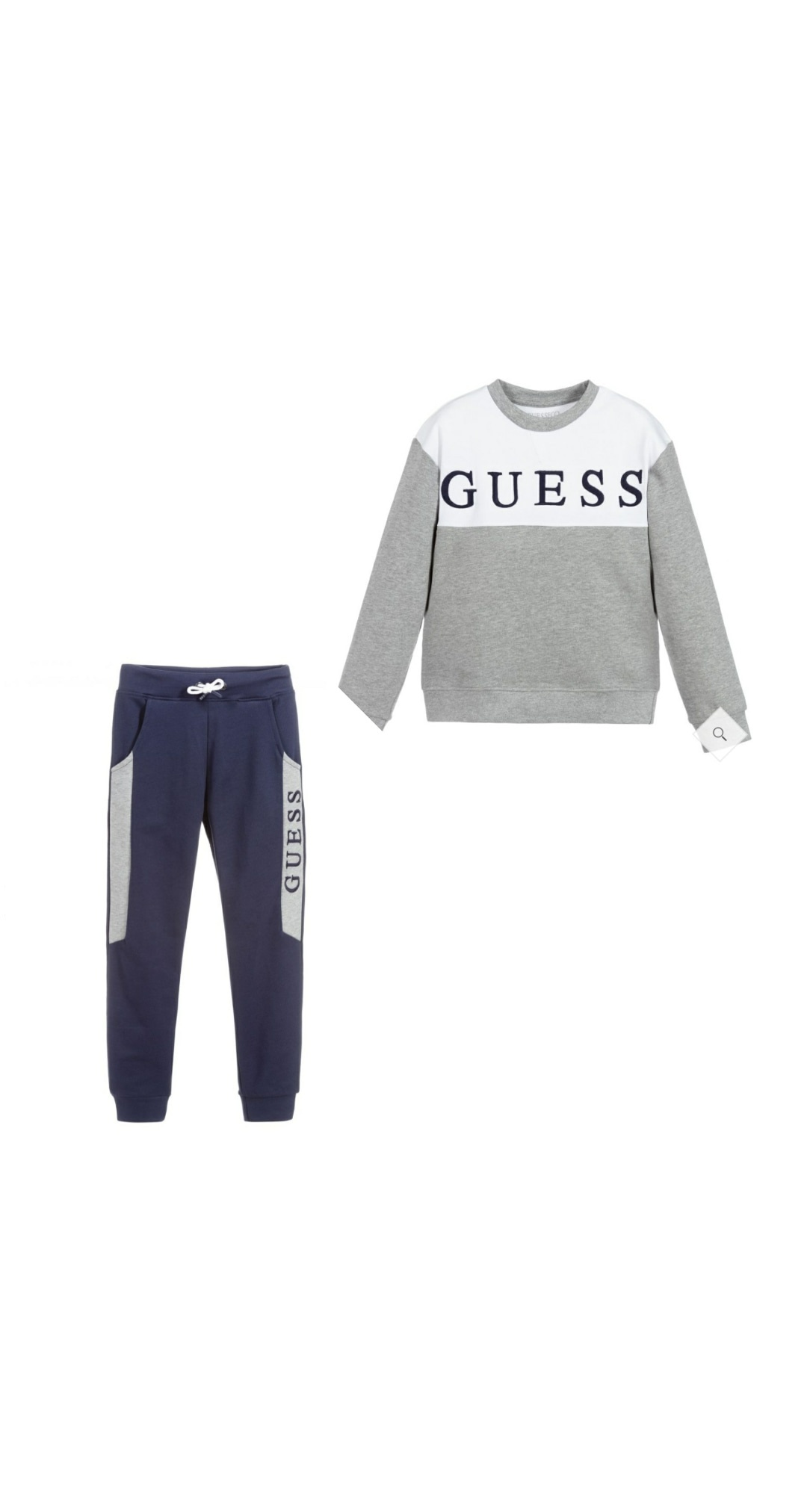 Guess Guess Grey & Navy Logo Tracksuit 7YEARS
