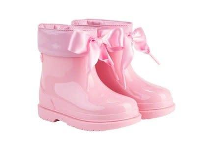 igor Igor Bimbi Lazo Rainboot With Ribbon Tie - Pink