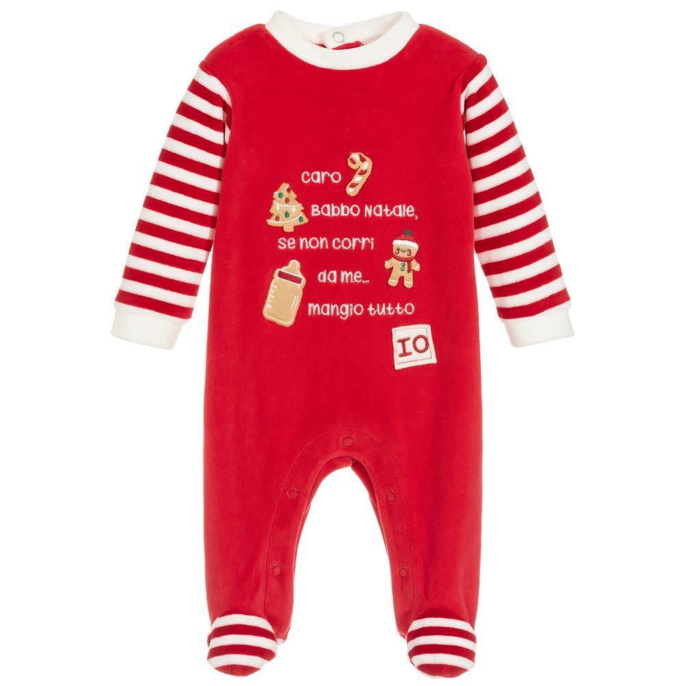 Ido Ido Red Festive Babygrow